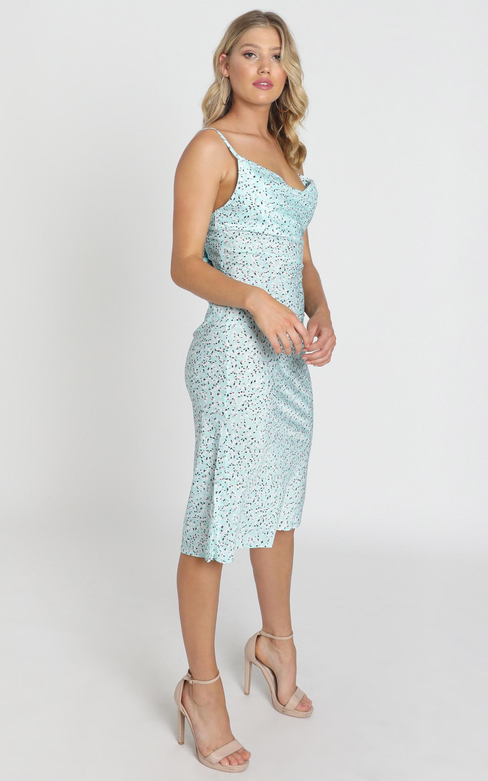 Elki Midi Dress in sage floral - 6 (XS), Sage, hi-res image number null