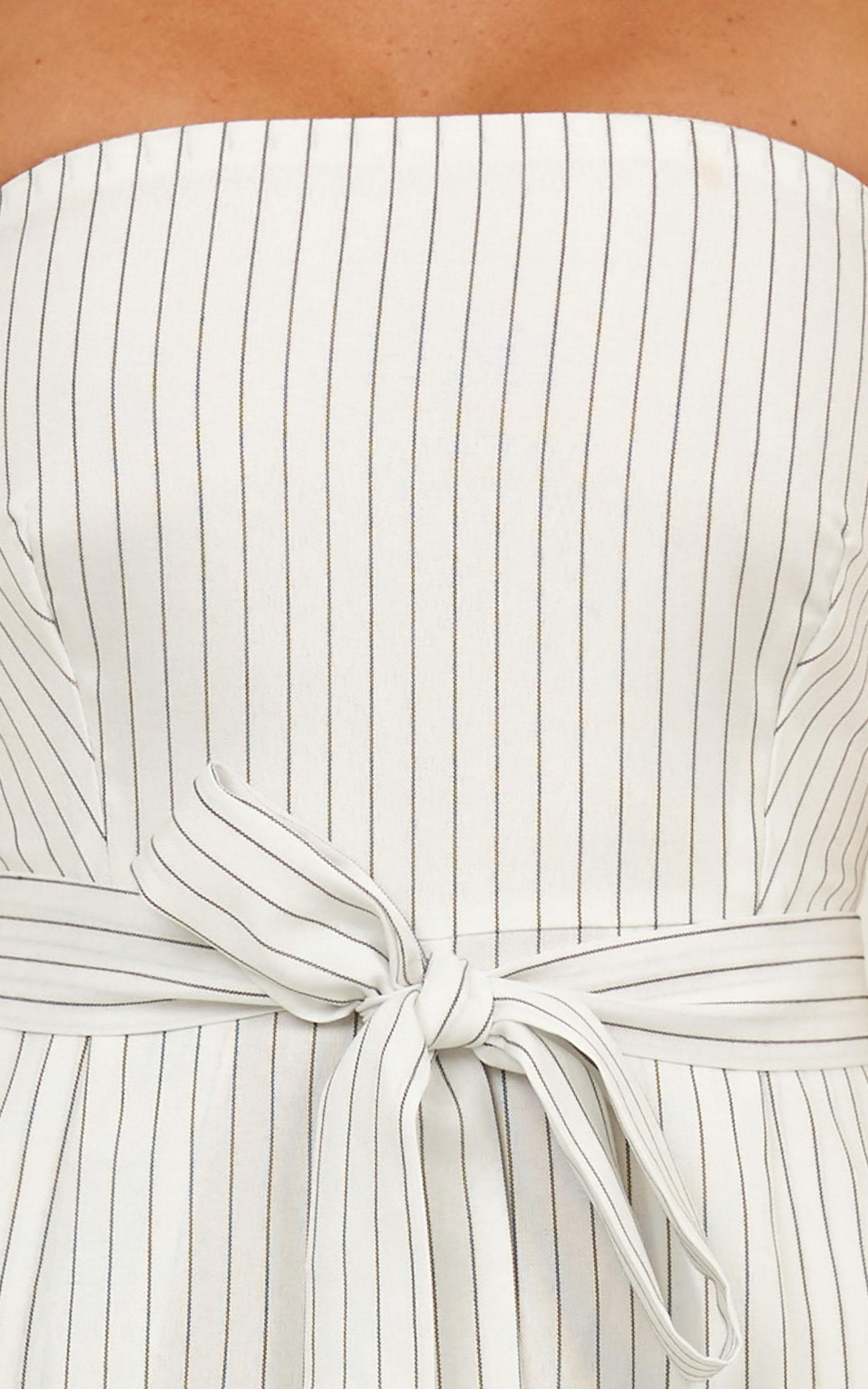 Lover Of Summer Day jumpsuit In white stripe - 14 (XL), White, hi-res image number null