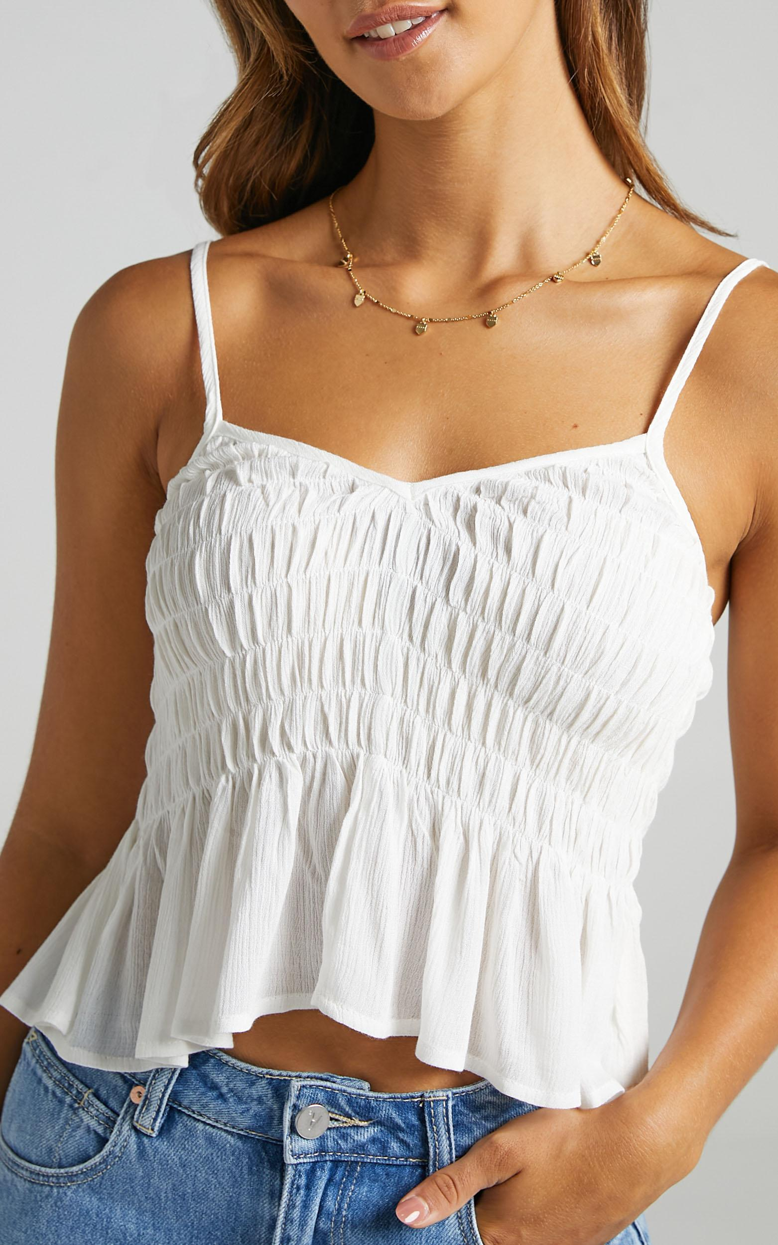 Bellona Top in White - 6 (XS), White, hi-res image number null