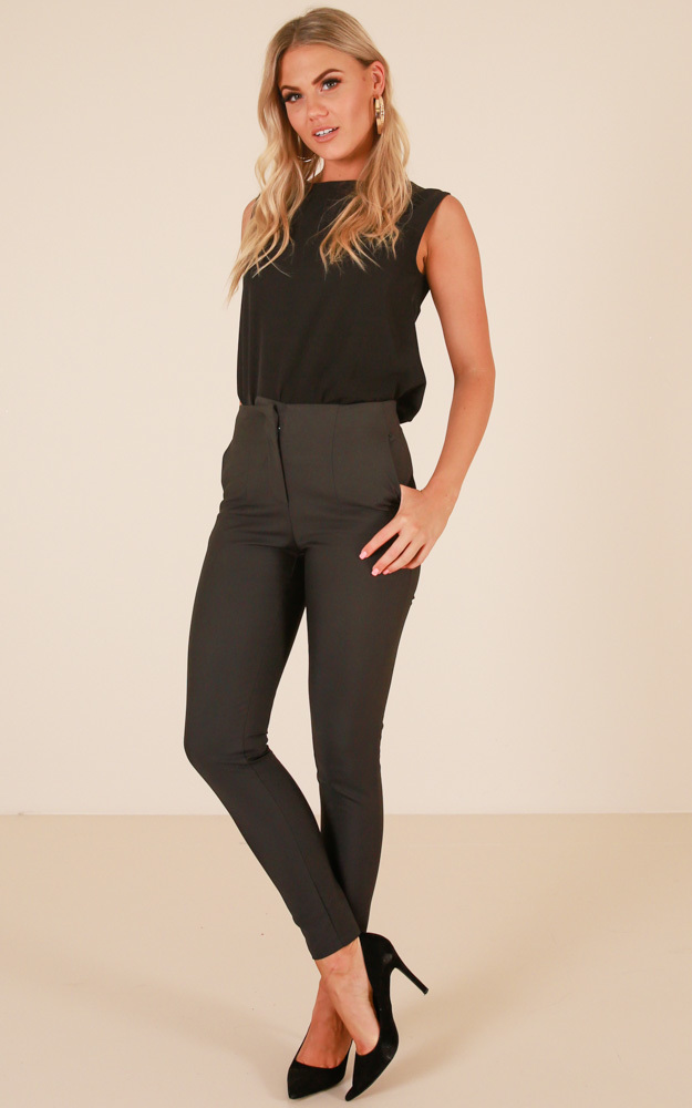 Well Suited pants in charcoal - 6 (XS), Charcoal, hi-res image number null