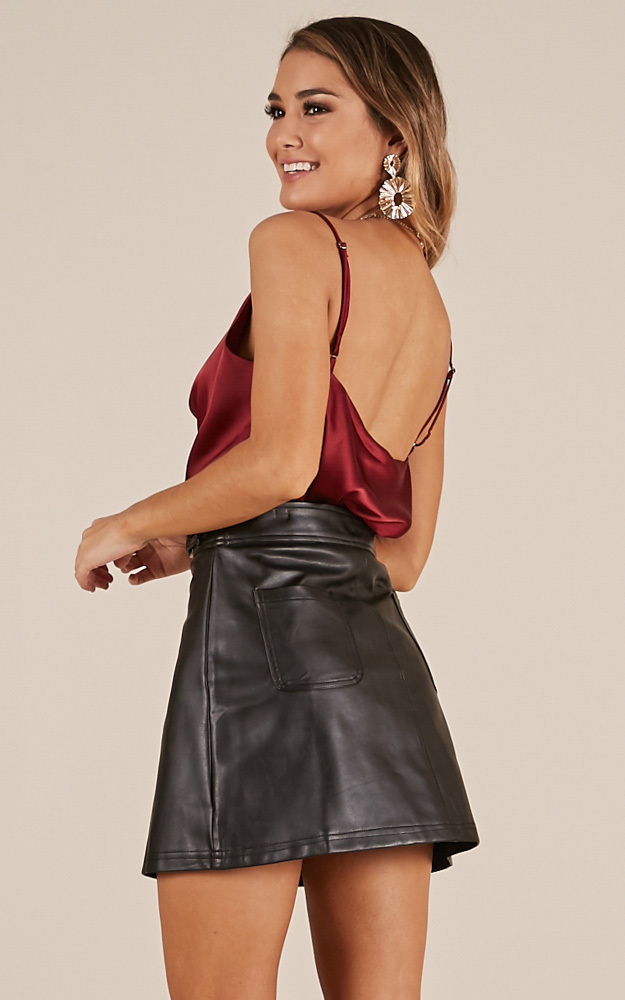 All The Same Top In Wine satin, Wine, hi-res image number null