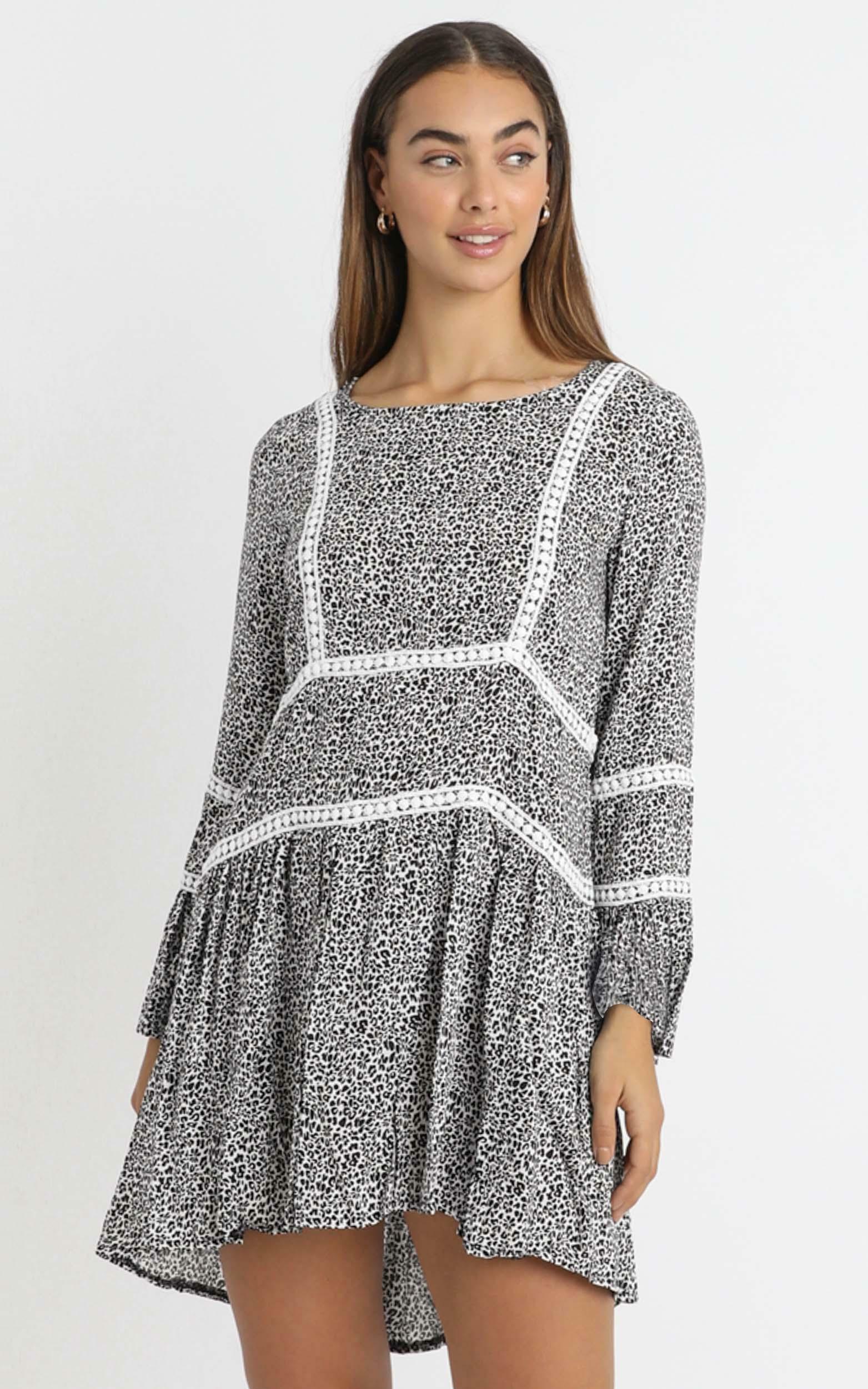 Edina Dress in Leopard - 14 (XL), BLK1, hi-res image number null