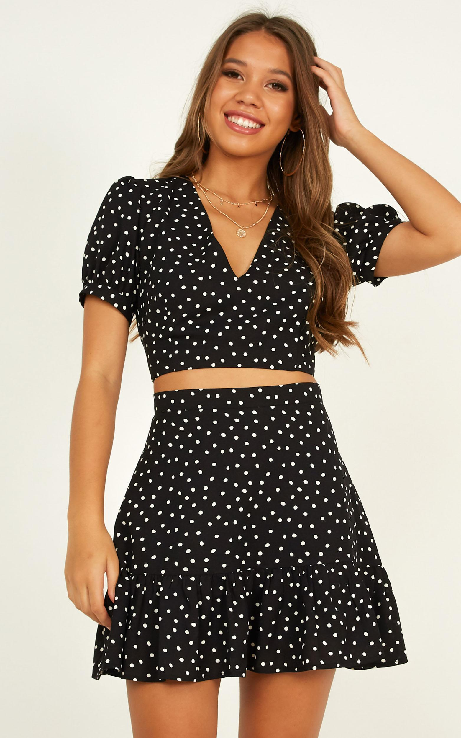 Solstice Two Piece Set In black spot - 20 (XXXXL), Black, hi-res image number null
