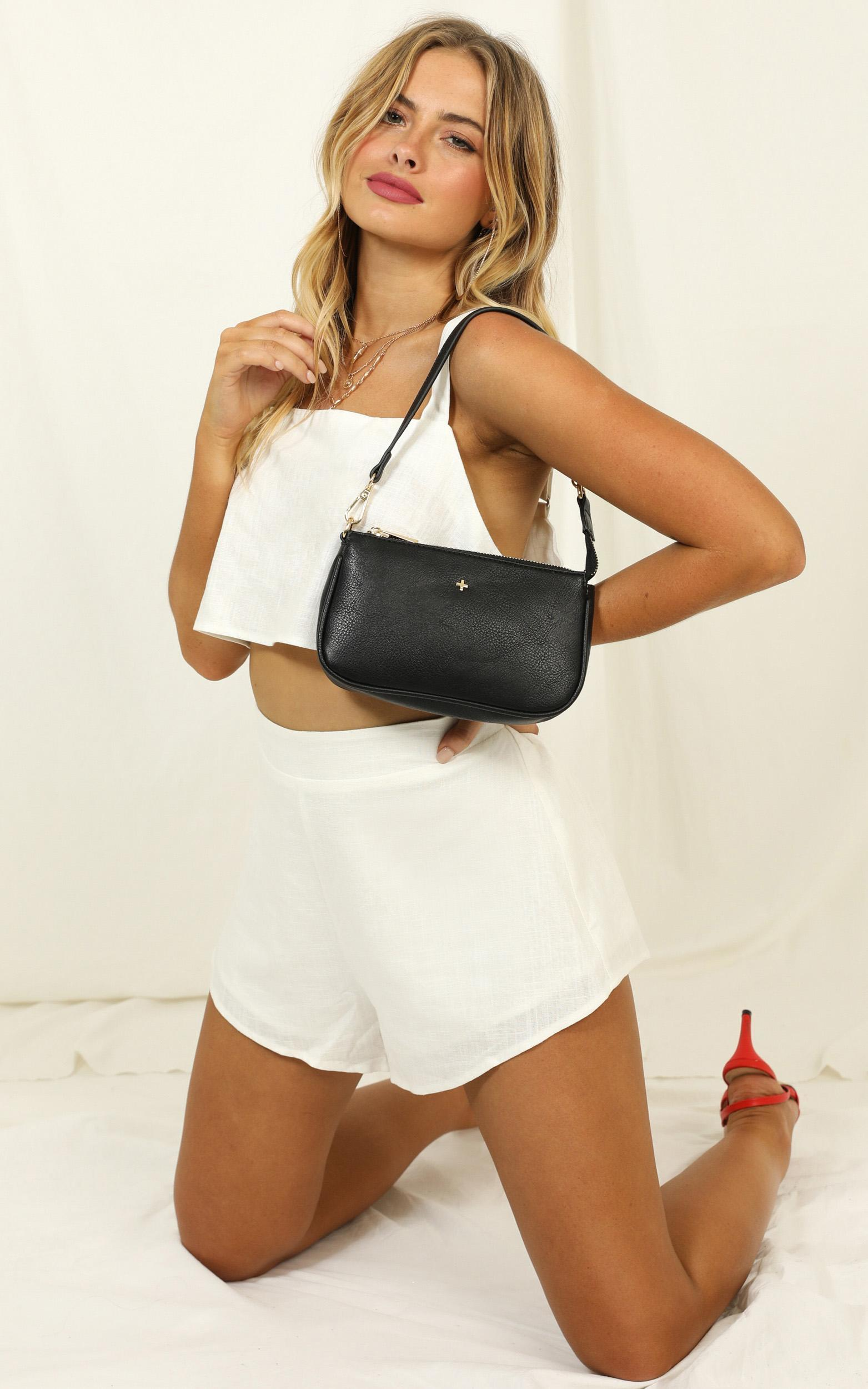 Save The Light two piece set in white linen look - 14 (XL), White, hi-res image number null
