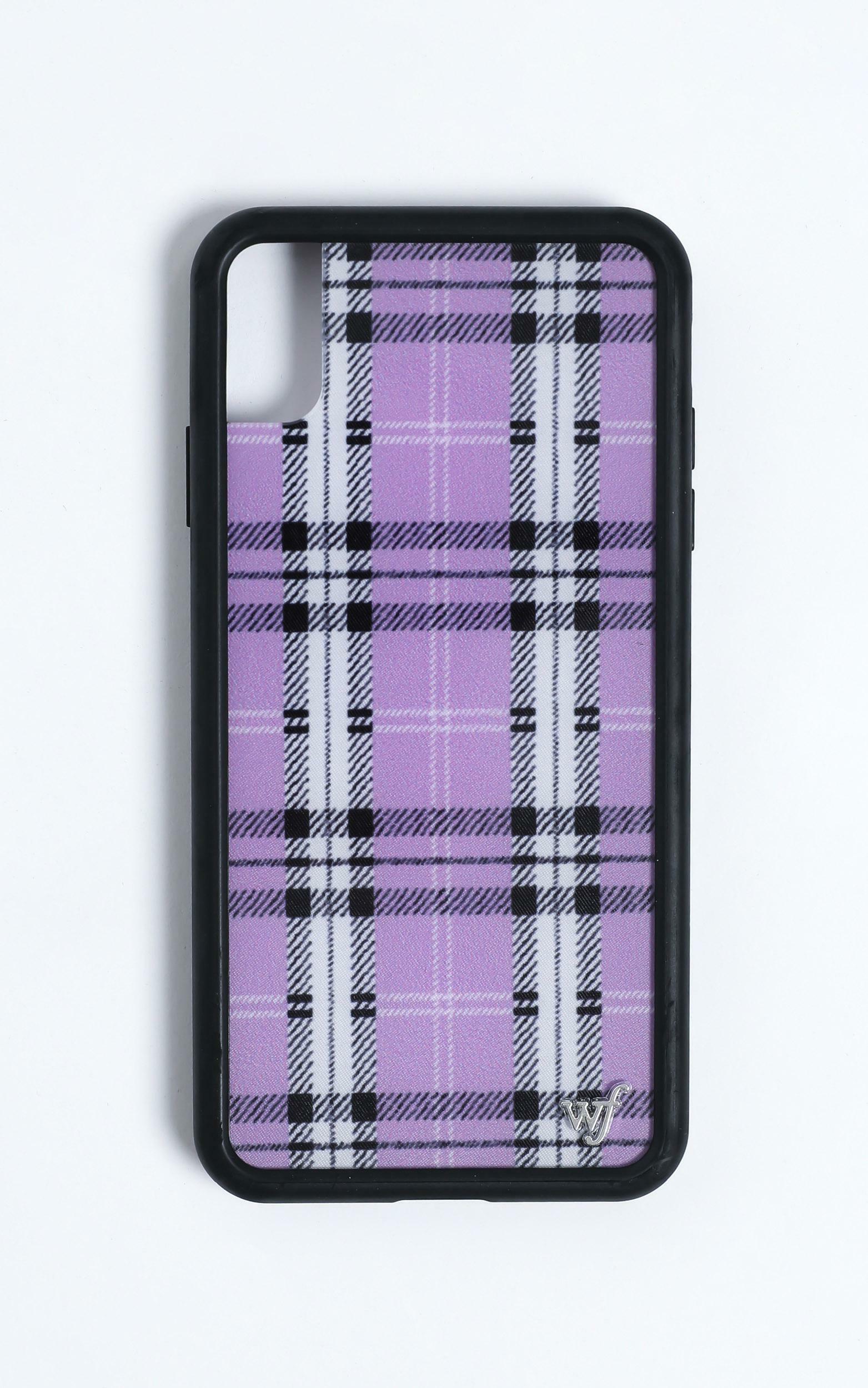 Wildflower - Iphone Case in Lavender Plaid - 8, Purple, hi-res image number null