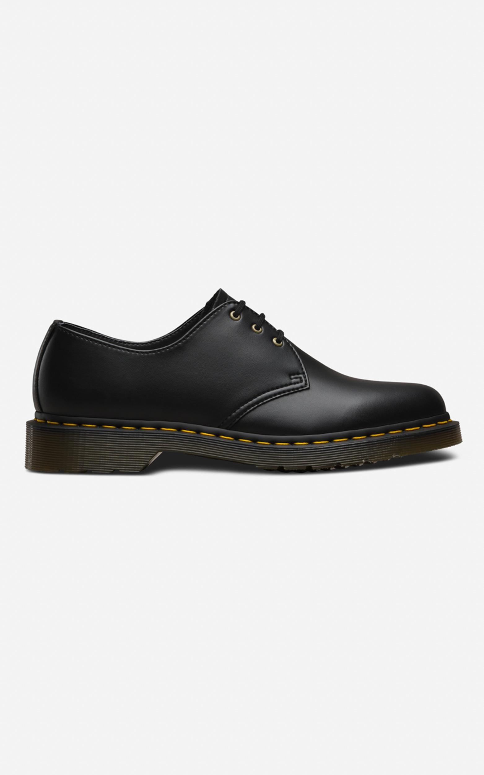 Dr. Martens - 1461 Vegan 3 Eye Shoe in Black Felix Rub Off - 10, Black, hi-res image number null