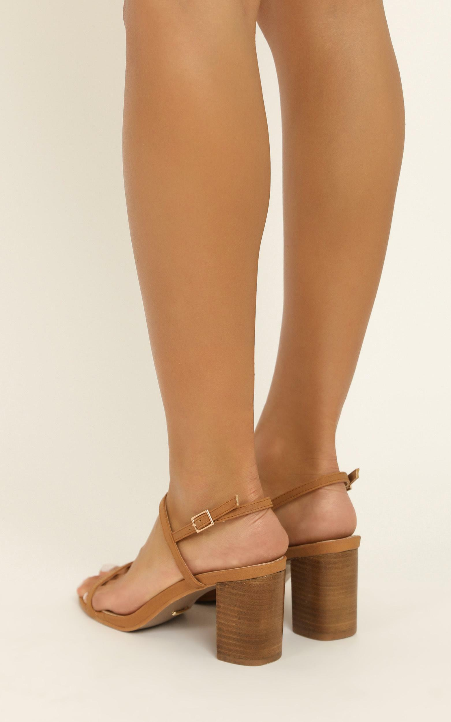 Showpo X Billini - Flores heels in tan nubuck - 10, Tan, hi-res image number null