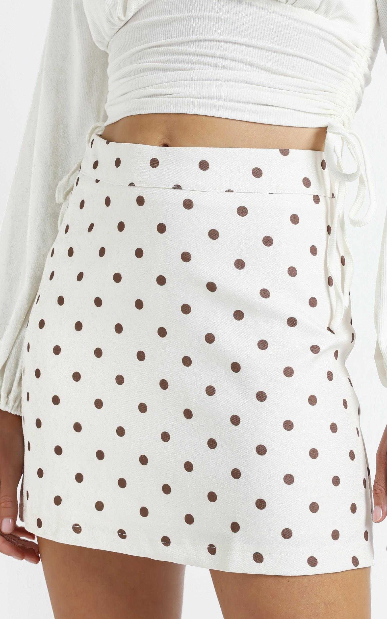 Lavo Skirt in Spot - 14 (XL), White, hi-res image number null