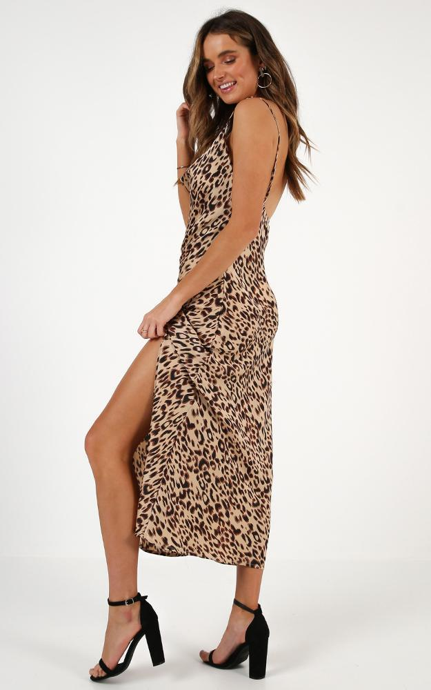 When The Time Is Right dress in leopard print - 14 (XL), Brown, hi-res image number null