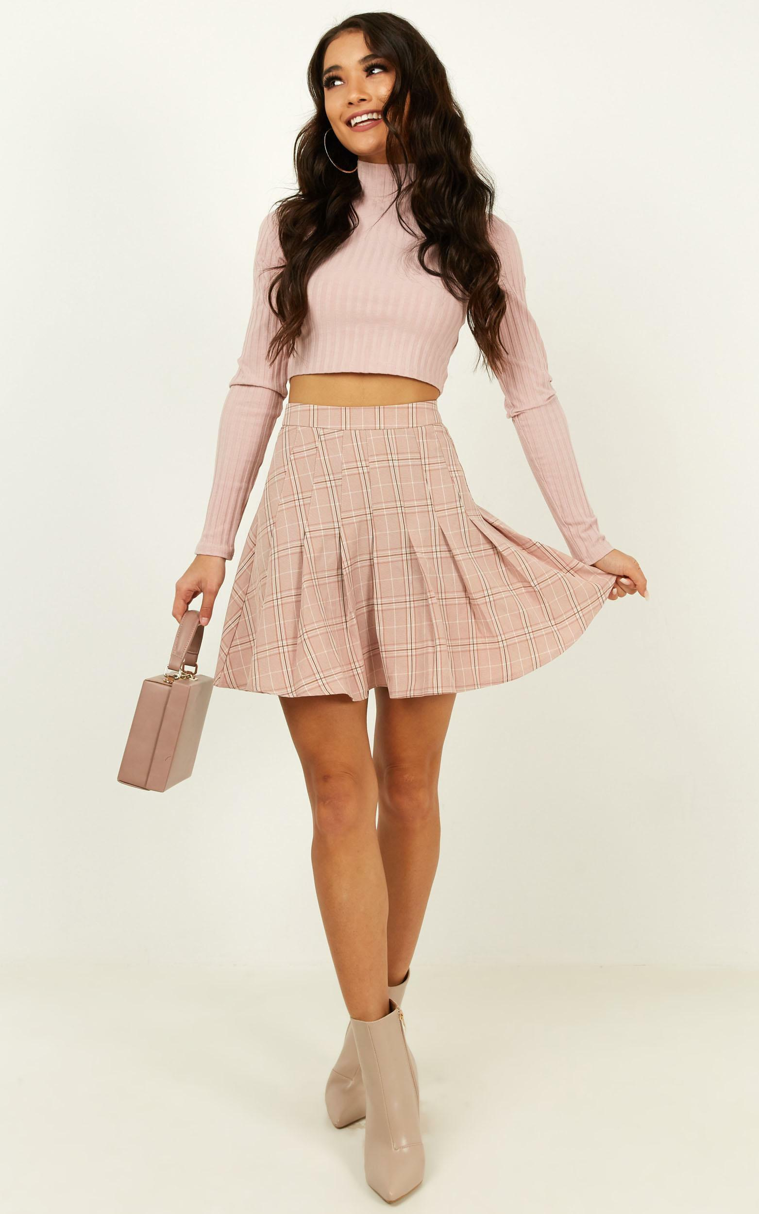 Watching Us Skirt In blush check - 16 (XXL), Blush, hi-res image number null
