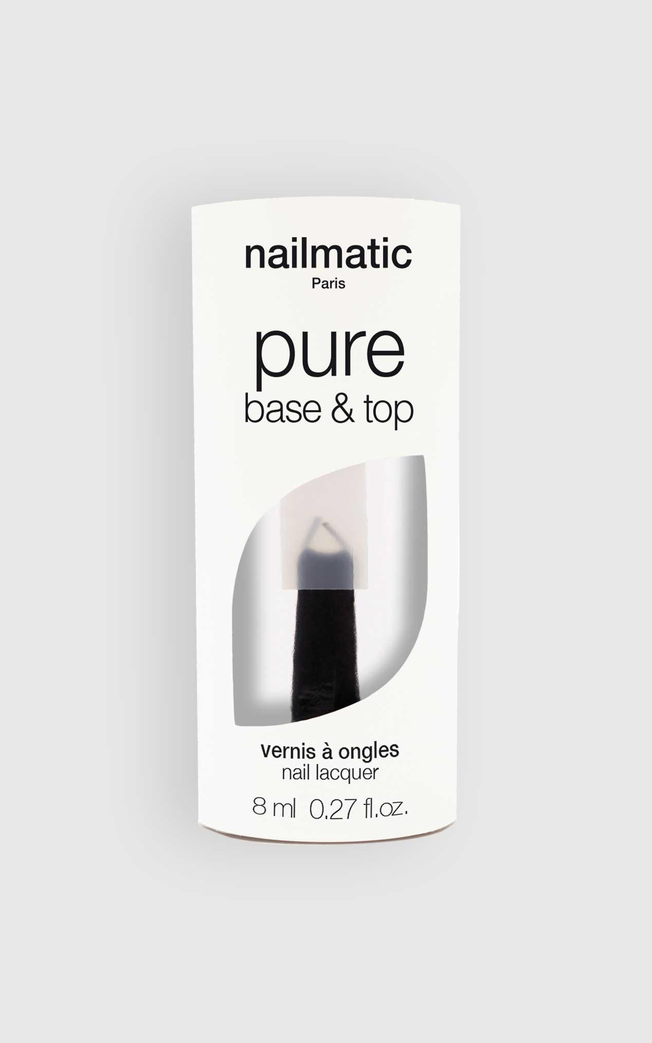 Nailmatic - Pure Colour 2-in-1 Base and Top Coat Nail Polish in Clear, Clear, hi-res image number null