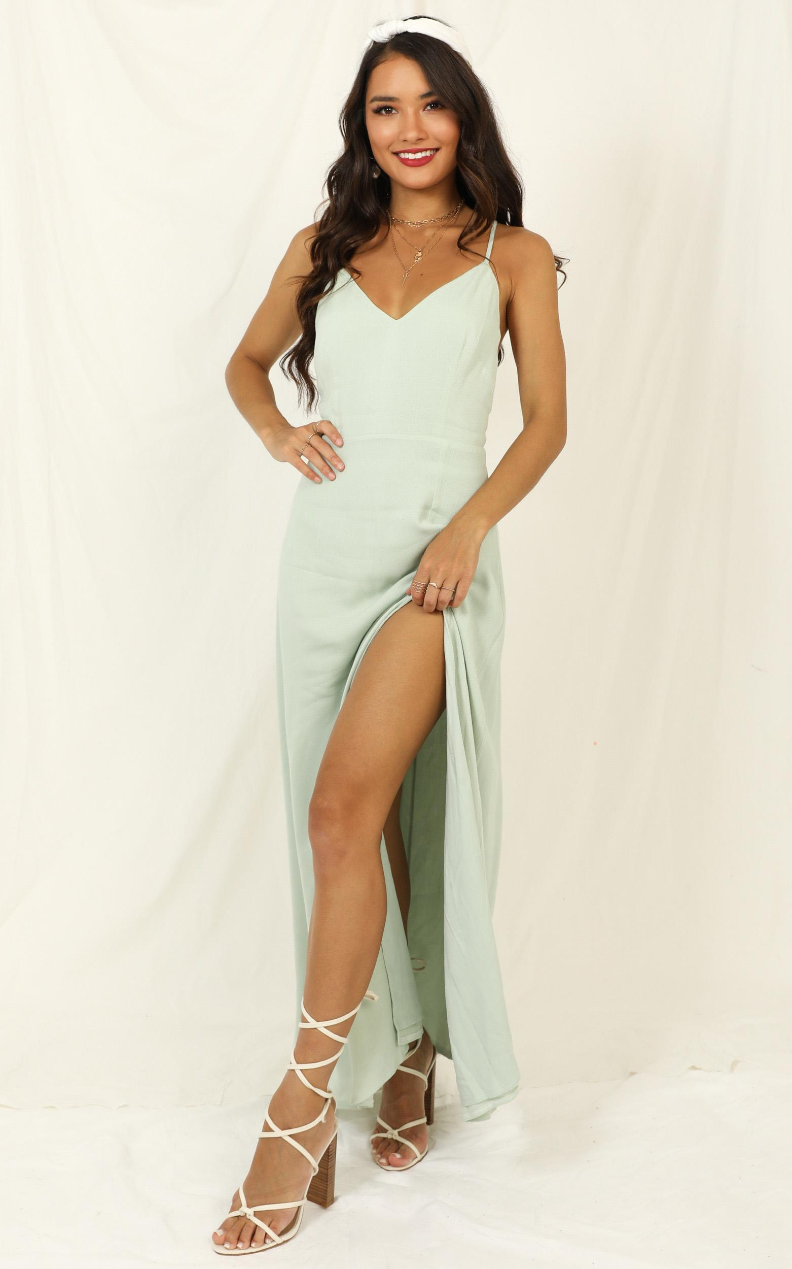 Ibiza Sunset Dress in sage - 14 (XL), Sage, hi-res image number null