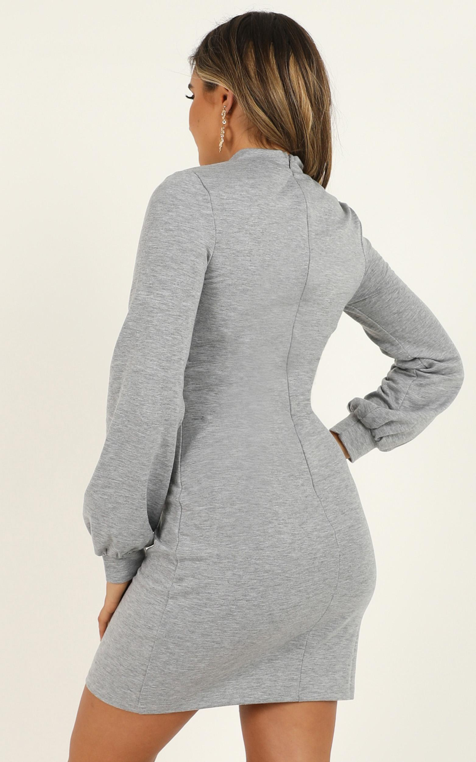 Calling Favours Dress in grey - 20 (XXXXL), Grey, hi-res image number null