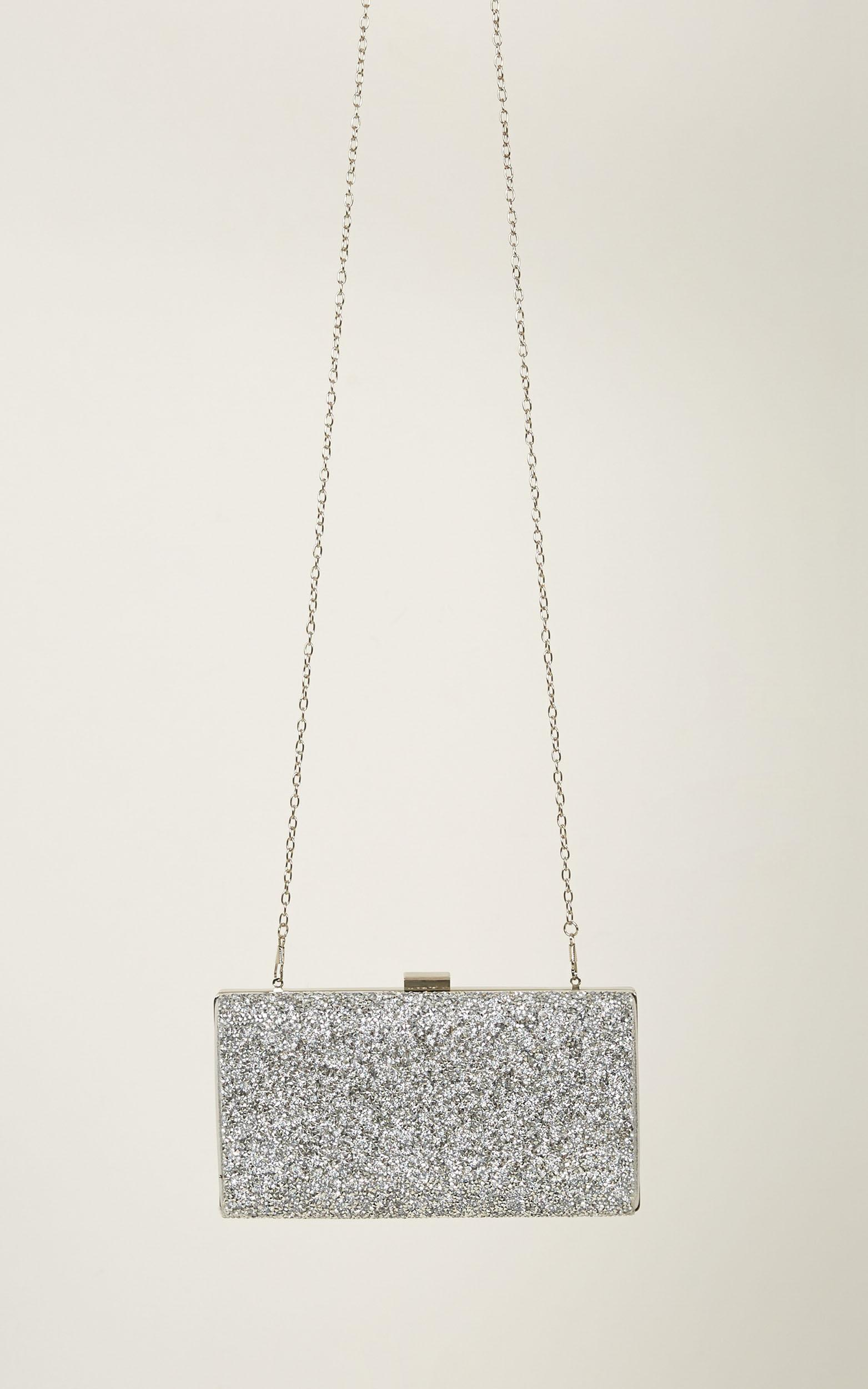 Sofie Clutch In Silver Glitter, , hi-res image number null