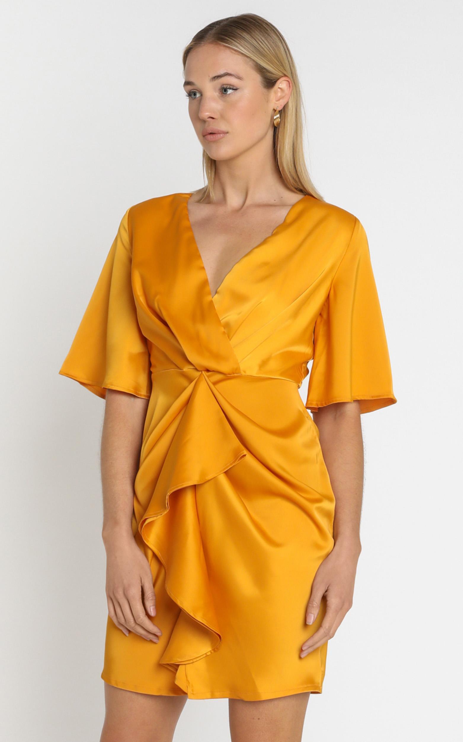Spread Your Love dress in tangerine satin - 16 (XXL), Orange, hi-res image number null
