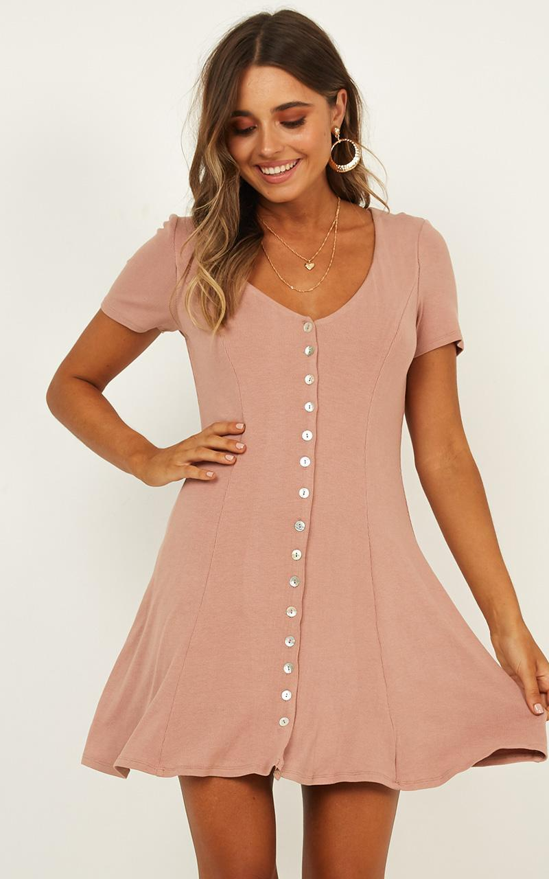 Changing Winds Dress In Blush - 4 (XXS), Blush, hi-res image number null