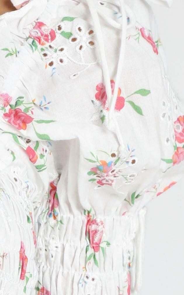 Amirah Top in cream floral - 10 (M), Cream, hi-res image number null