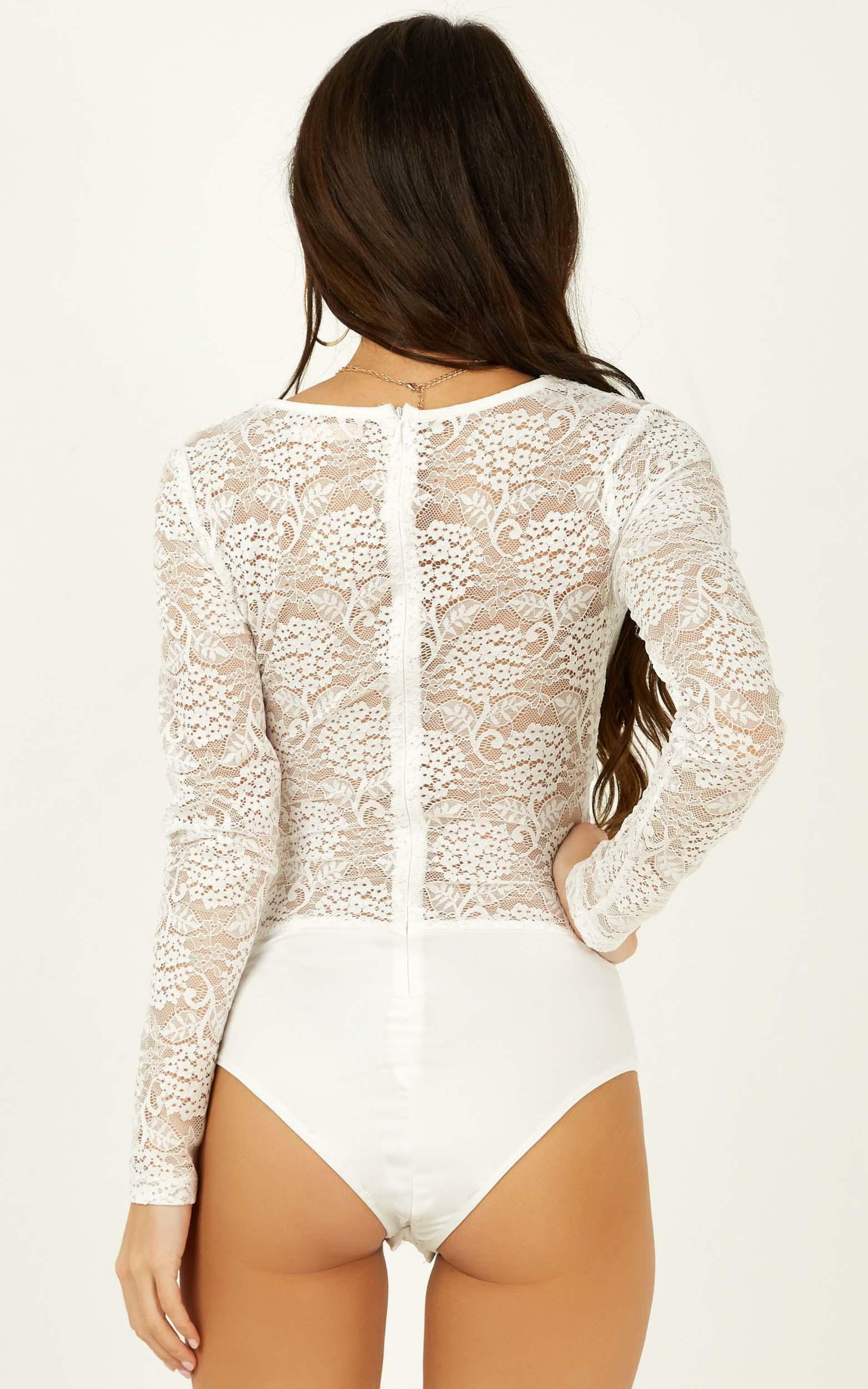 My Inspiration bodysuit in white lace - 12 (L), White, hi-res image number null