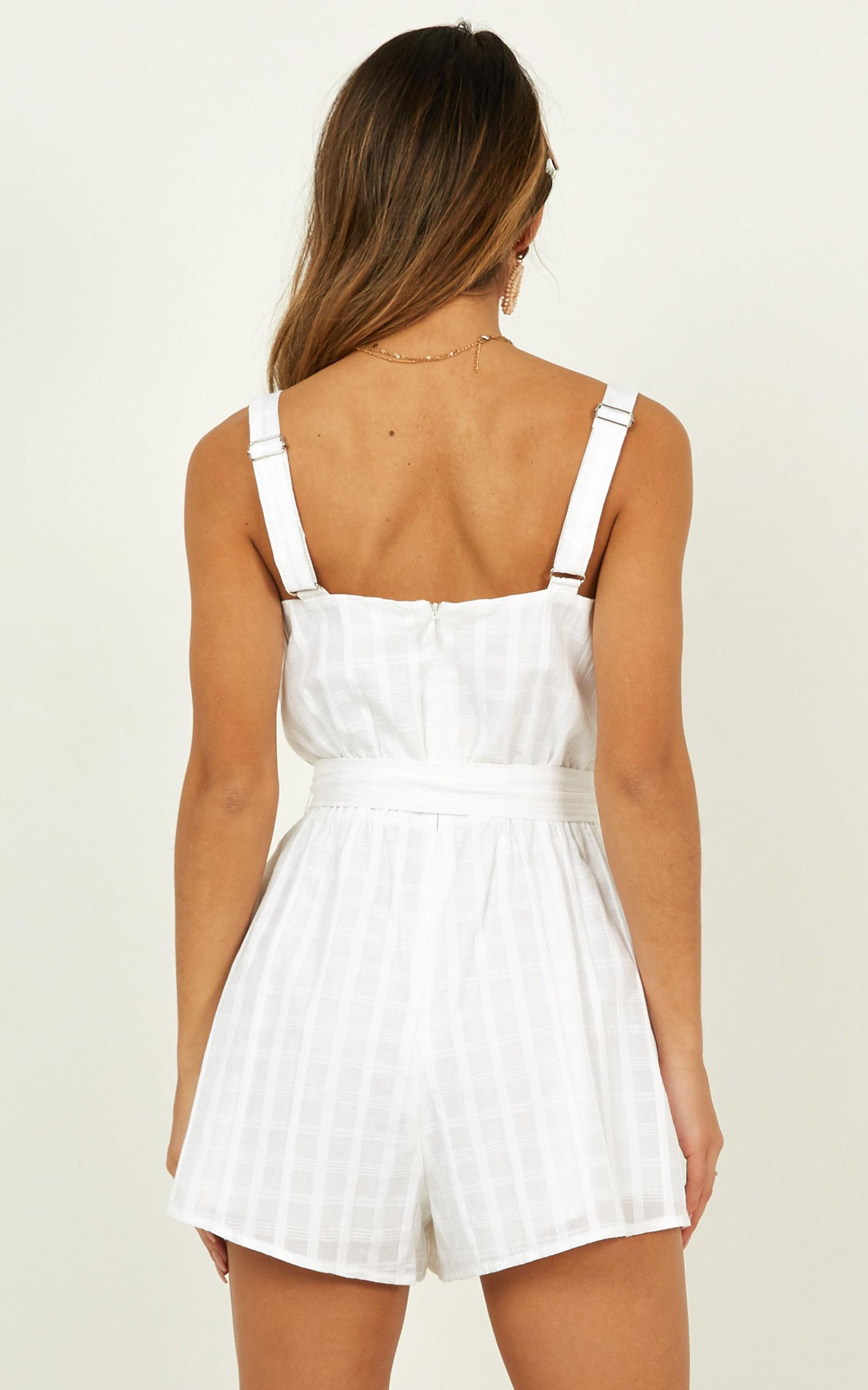 Missing Information Playsuit in white - 20 (XXXXL), White, hi-res image number null