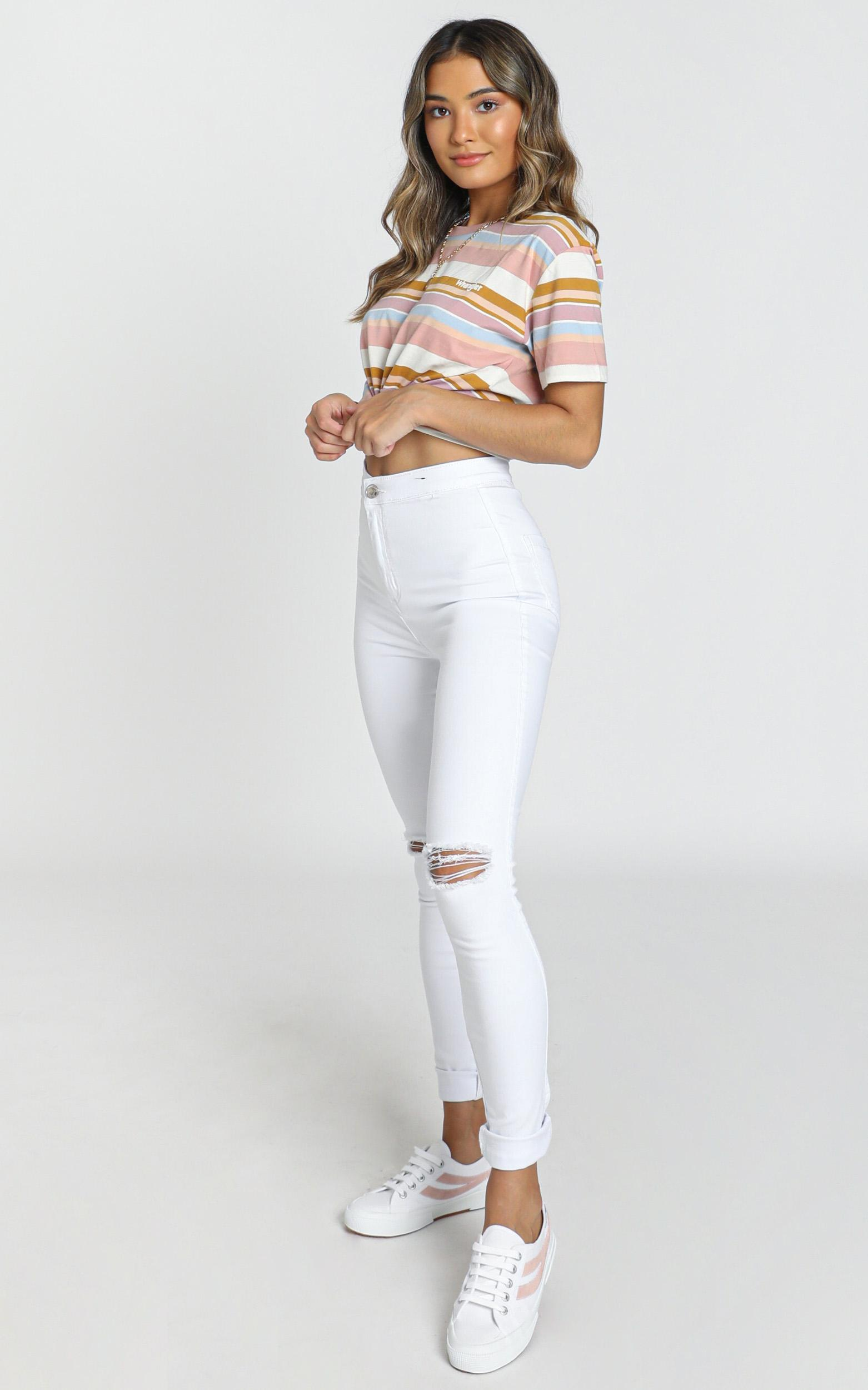 Carly Jeans in white - 8 (S), White, hi-res image number null