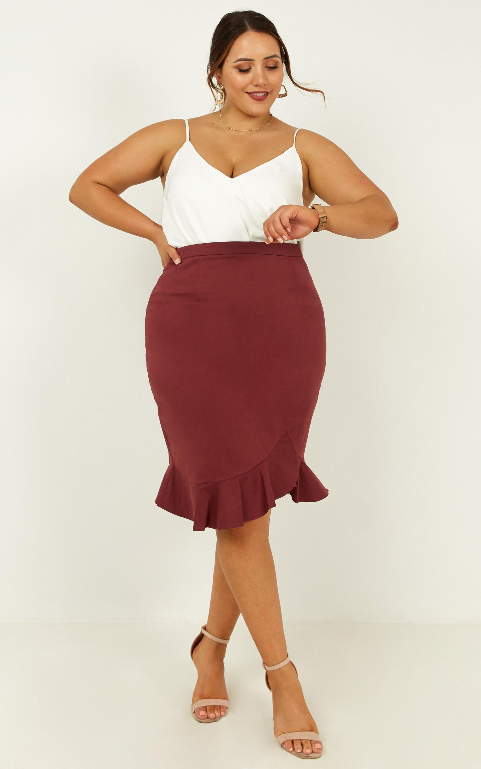 Mindful Soul Skirt in wine - 20 (XXXXL), Wine, hi-res image number null
