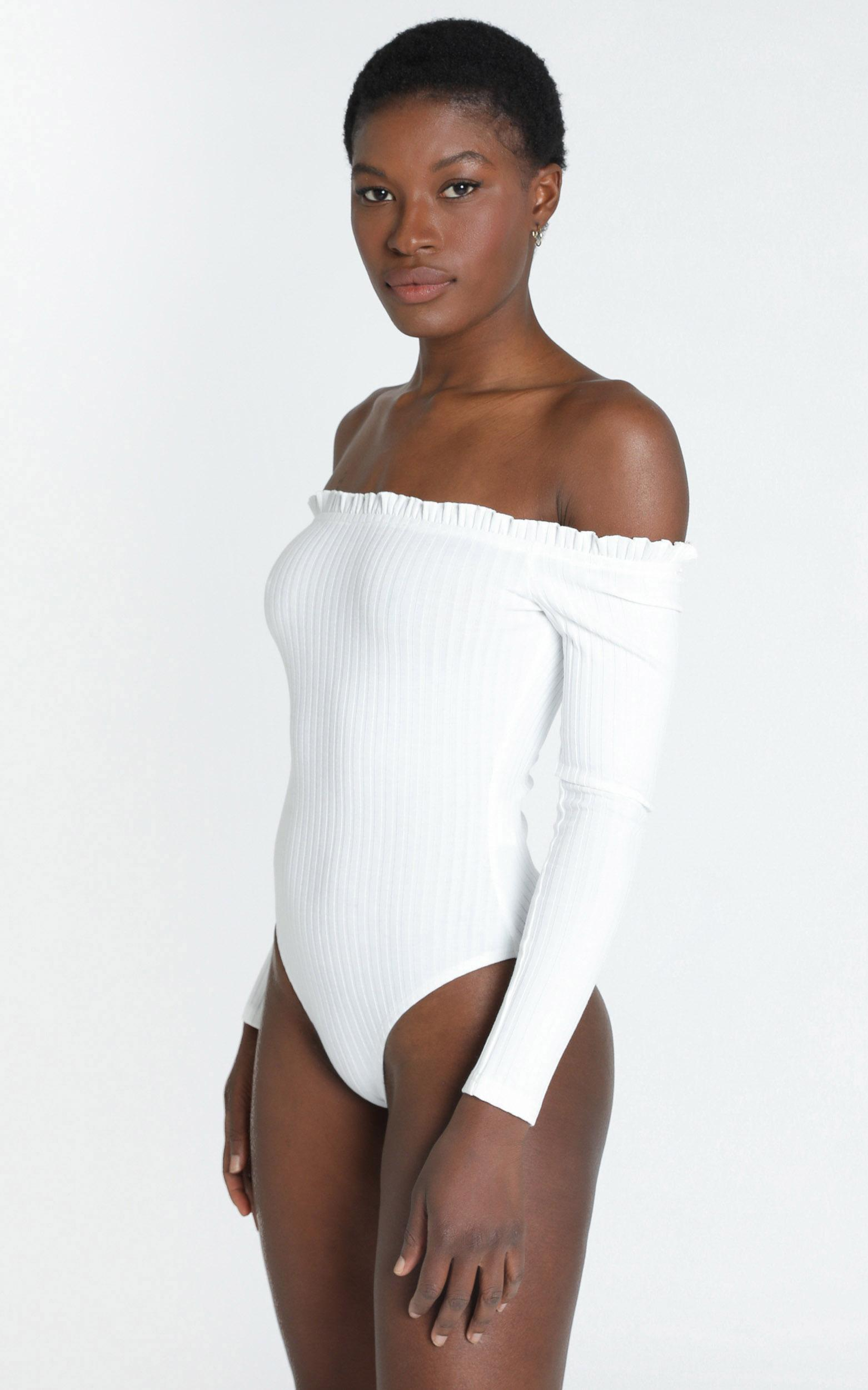 Fresh As A Daisy bodysuit in white - 20 (XXXXL), White, hi-res image number null