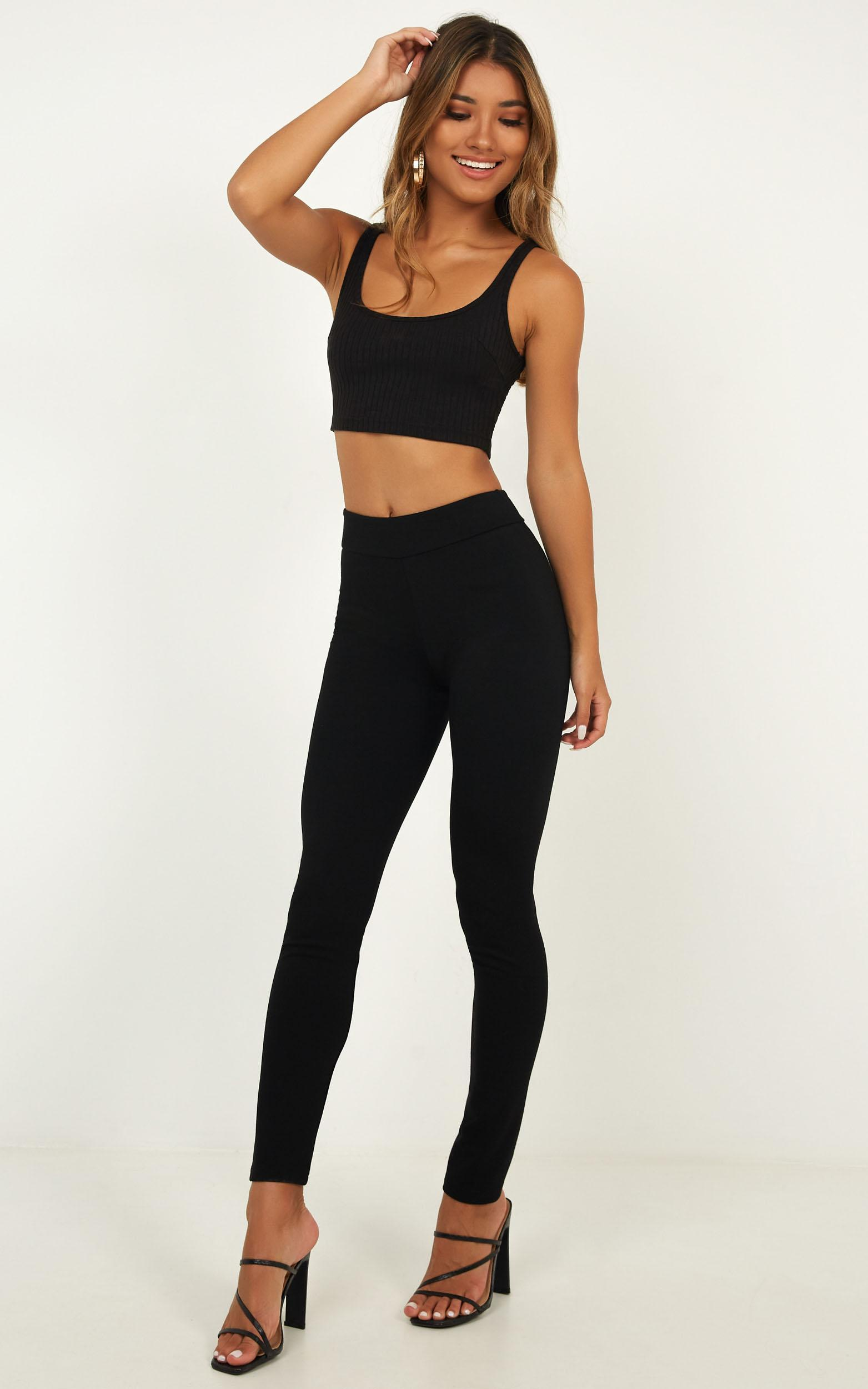Burning Up Crop Top in black - 16 (XXL), Black, hi-res image number null