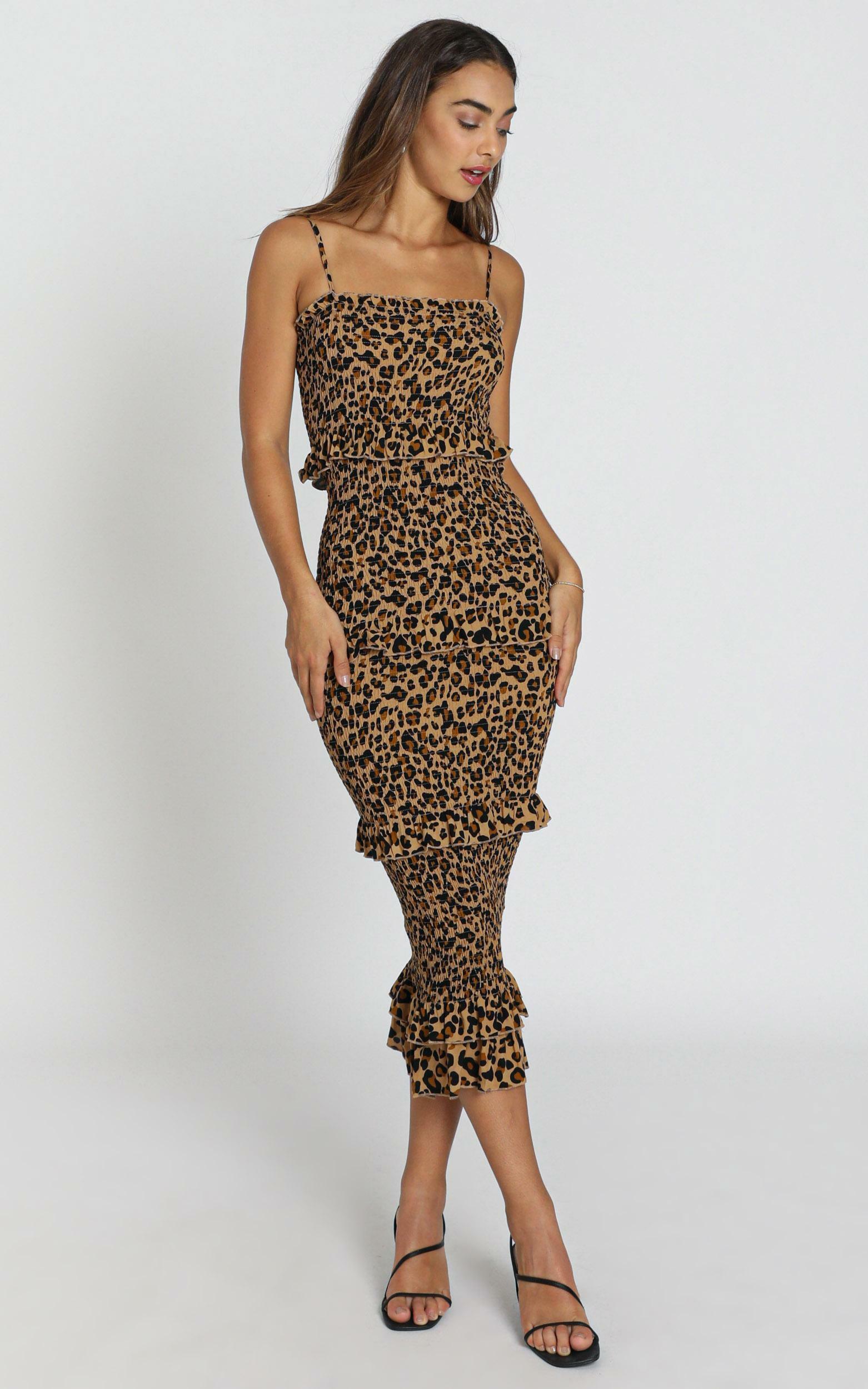 Chloe Dress in leopard print - 8 (S), Black, hi-res image number null
