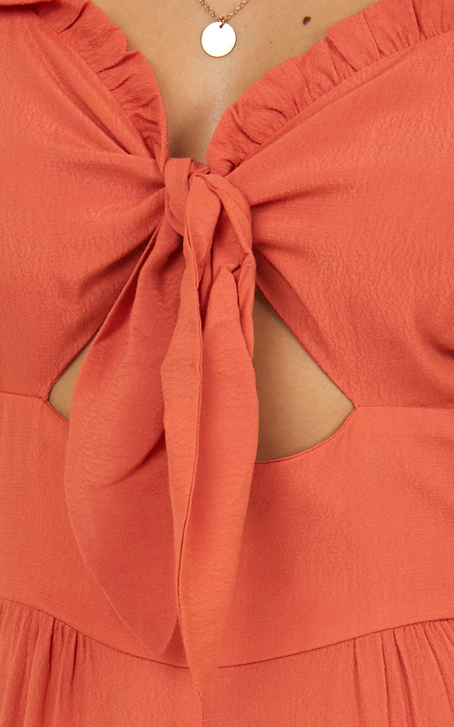 Lets Get Down Jumpsuit in tangerine - 12 (L), Orange, hi-res image number null