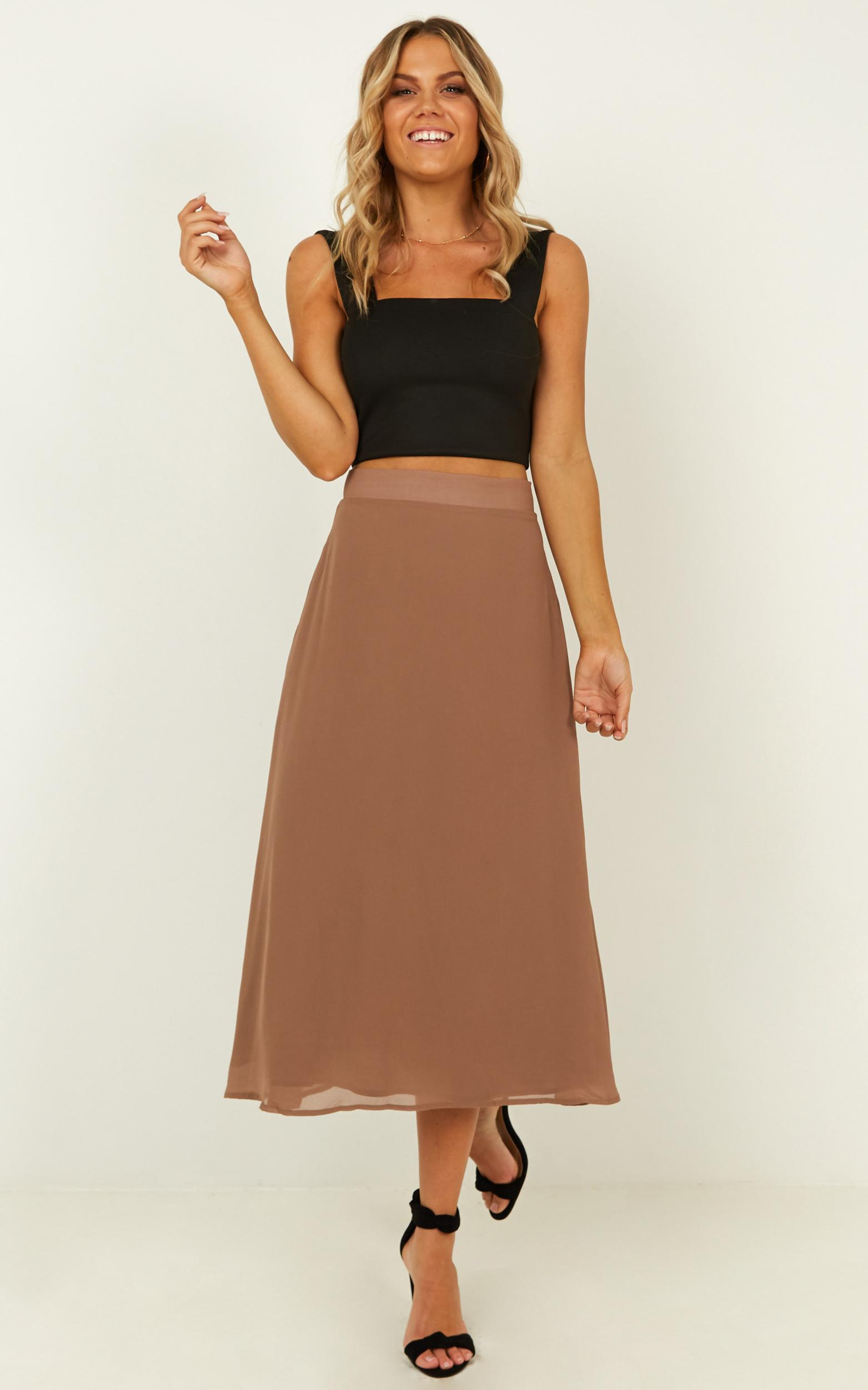 Forget You Not Skirt in mocha - 18 (XXXL), Mocha, hi-res image number null