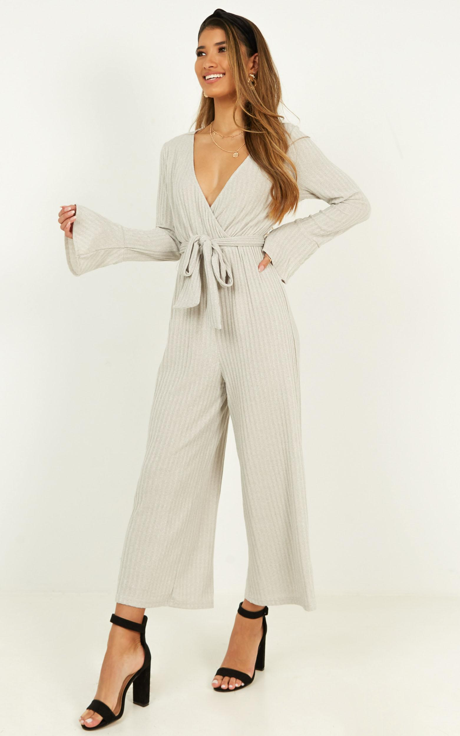Feel Like Flying Jumpsuit in beige marle - 20 (XXXXL), Beige, hi-res image number null