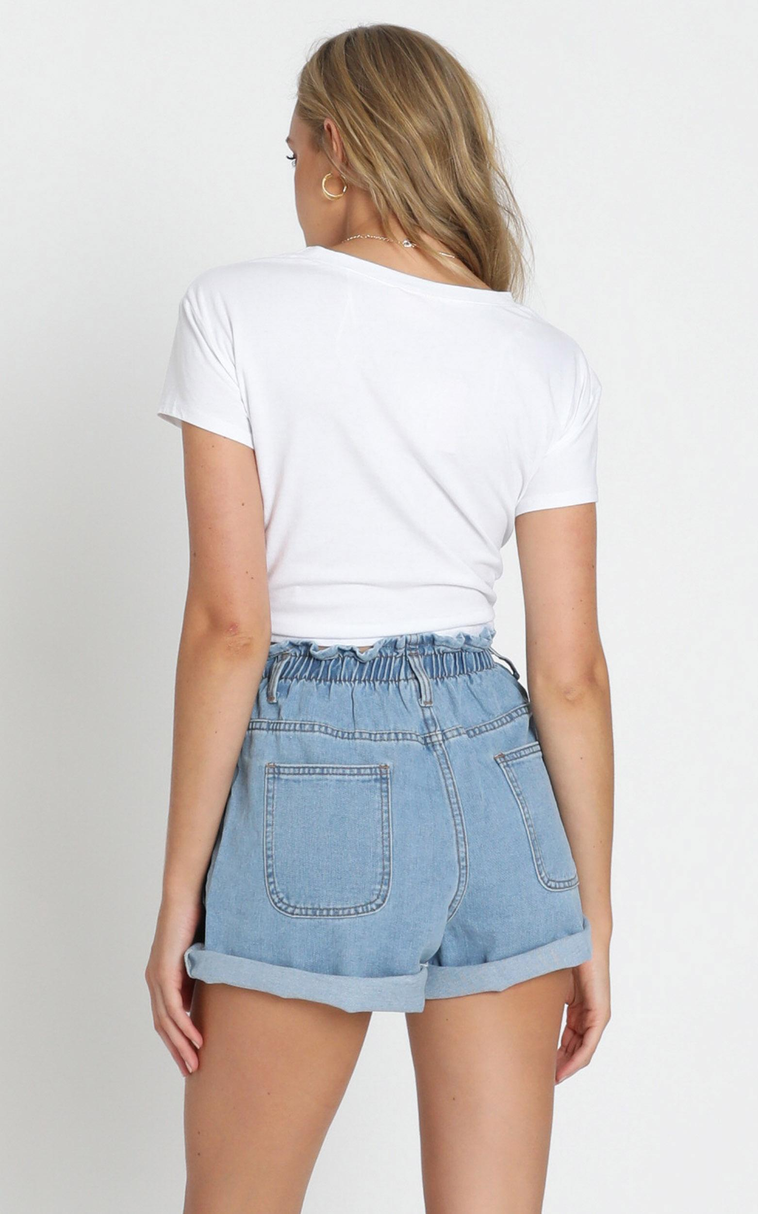 Stomping Ground denim shorts in light wash - 6 (XS), Blue, hi-res image number null