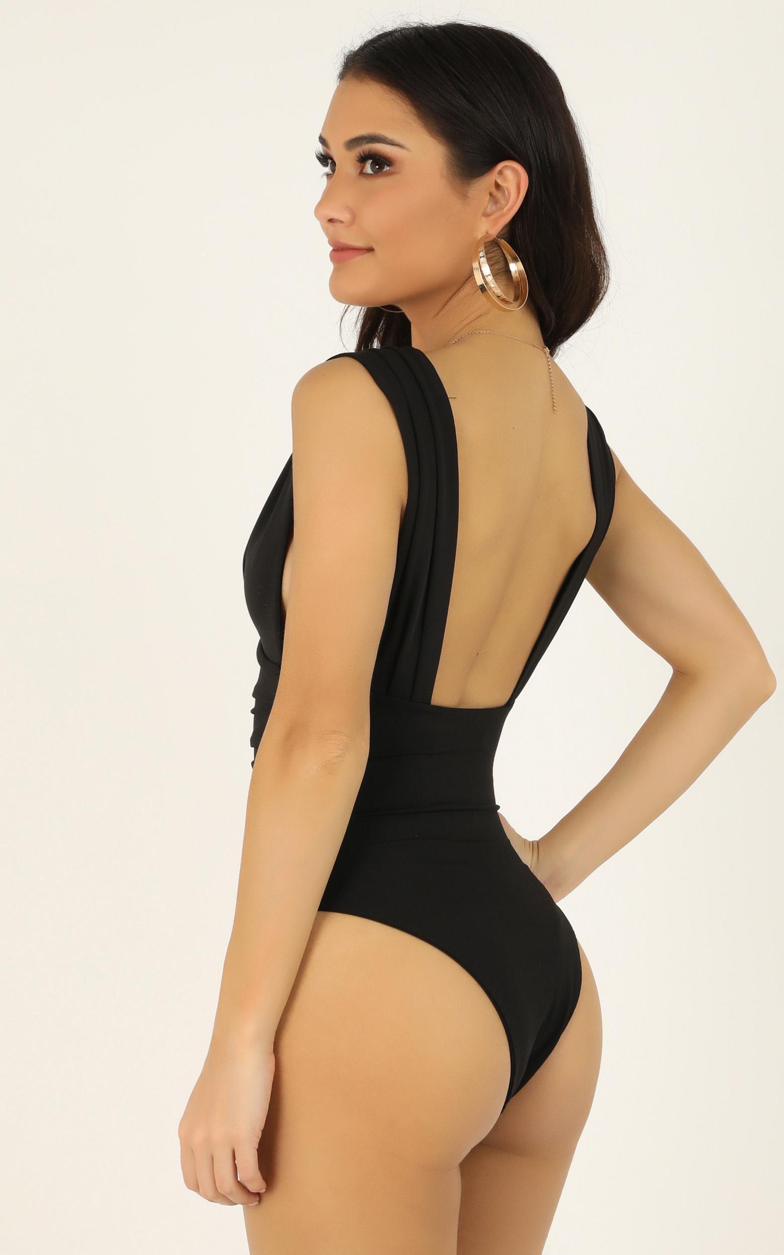 Show Me Sympathy bodysuit in black - 12 (L), Black, hi-res image number null