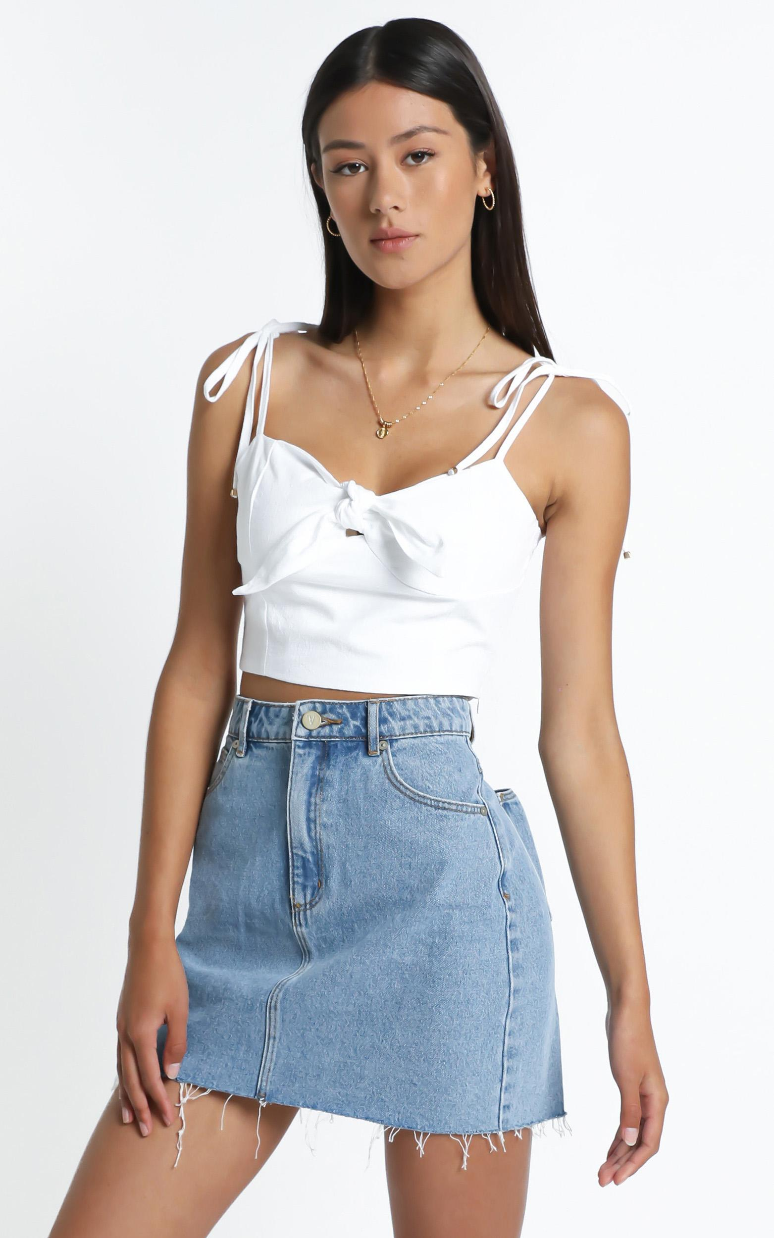 Sidra Top in White - 6 (XS), White, hi-res image number null