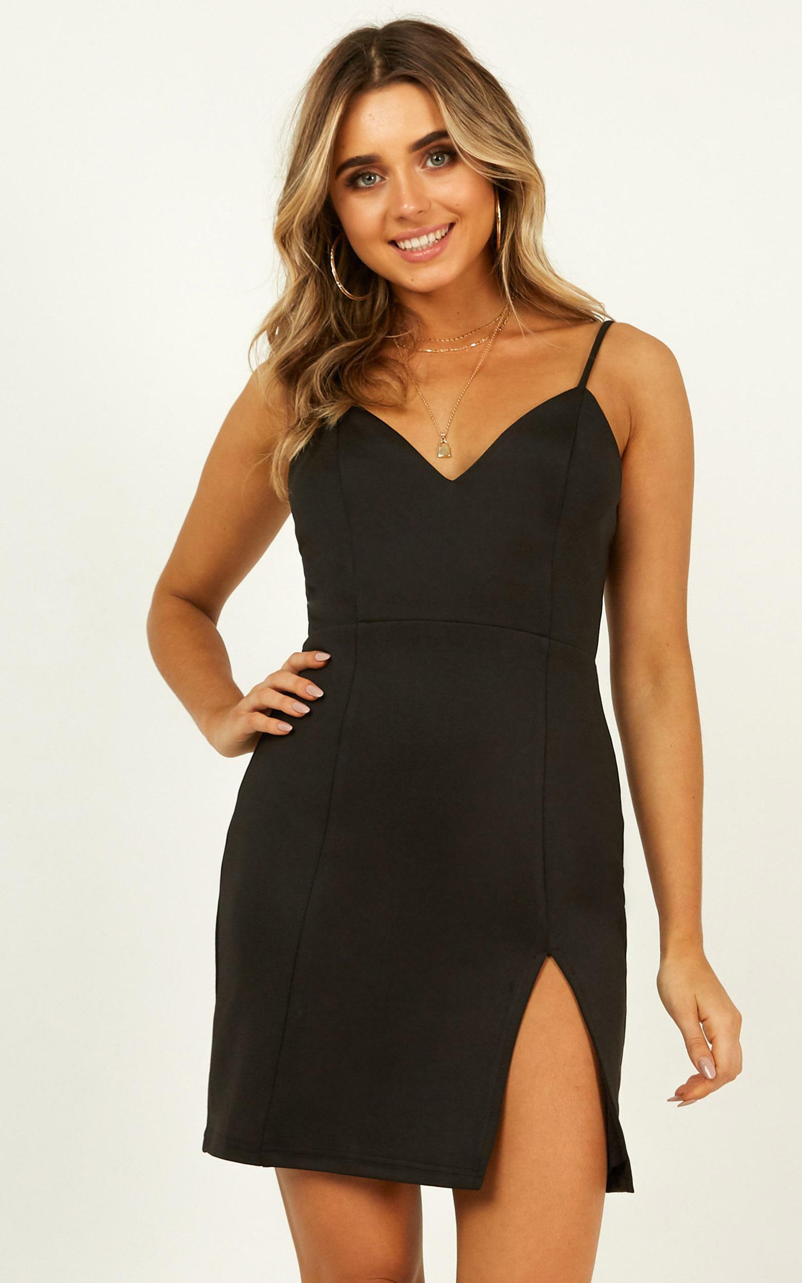 Lets Unwind Dress In black - 14 (XL), Black, hi-res image number null