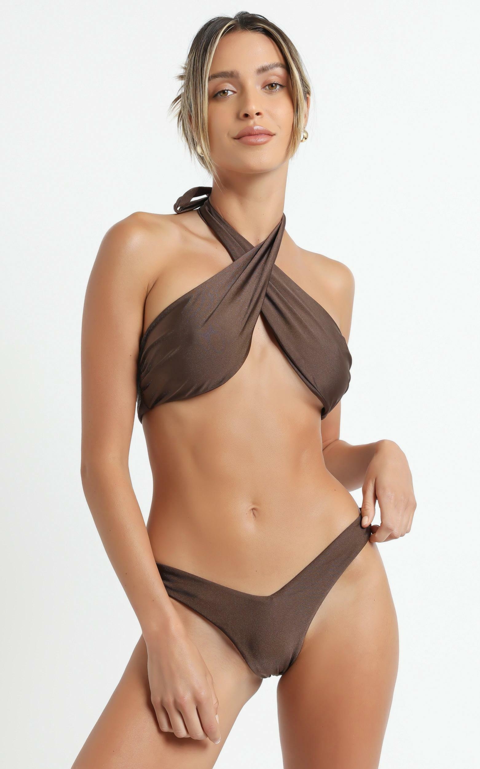 Lioness - The Annie Bikini in Brown - XS, Brown, hi-res image number null