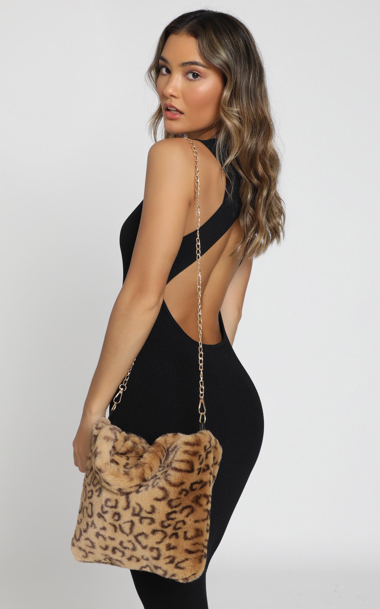 Cool Chic Cheetah Furry Bag In Tan, , hi-res image number null