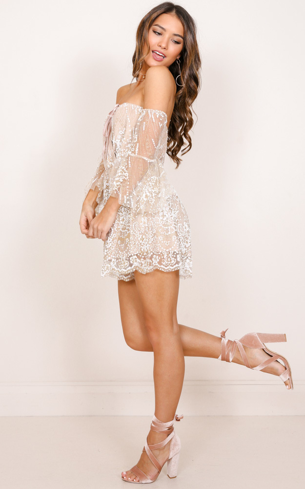 Loveless playsuit in beige - 12 (L), Gold, hi-res image number null