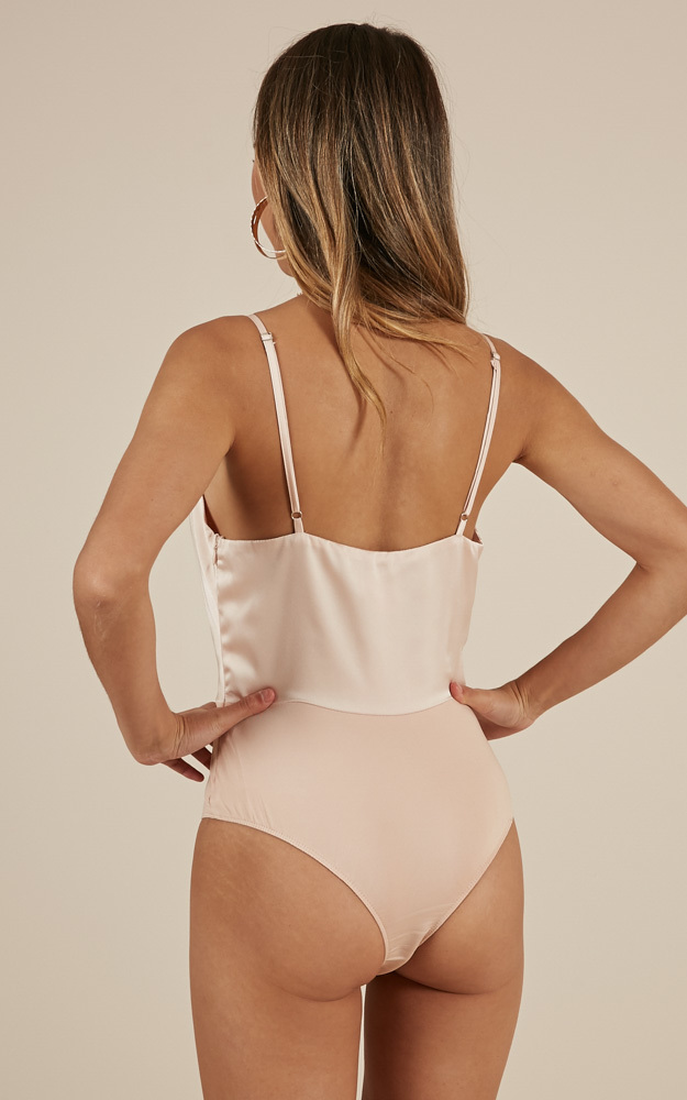 In the Moonlight Bodysuit in blush satin - 20 (XXXXL), Blush, hi-res image number null