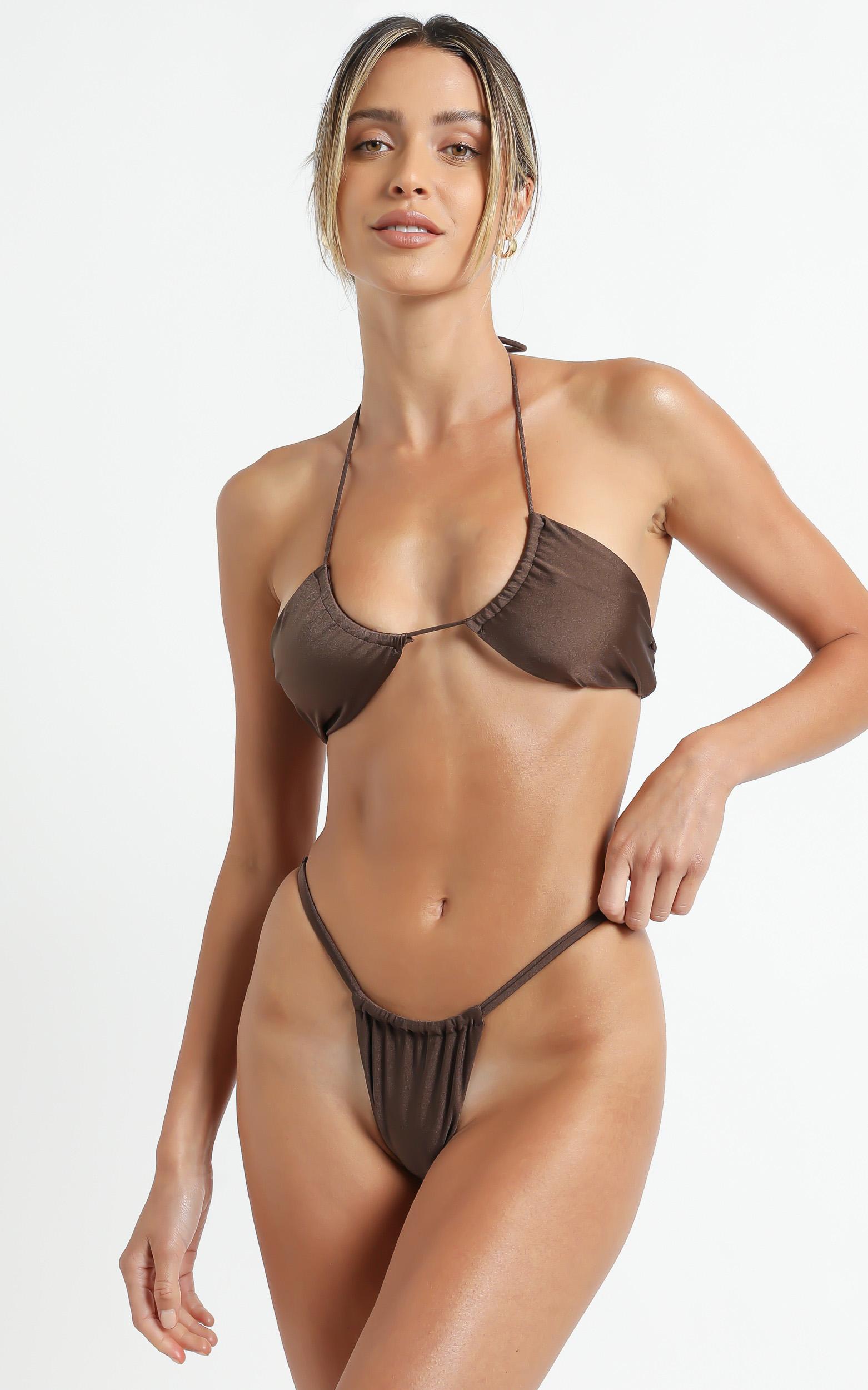 Lioness - The Kaesha Bikini in Brown - XS, Brown, hi-res image number null