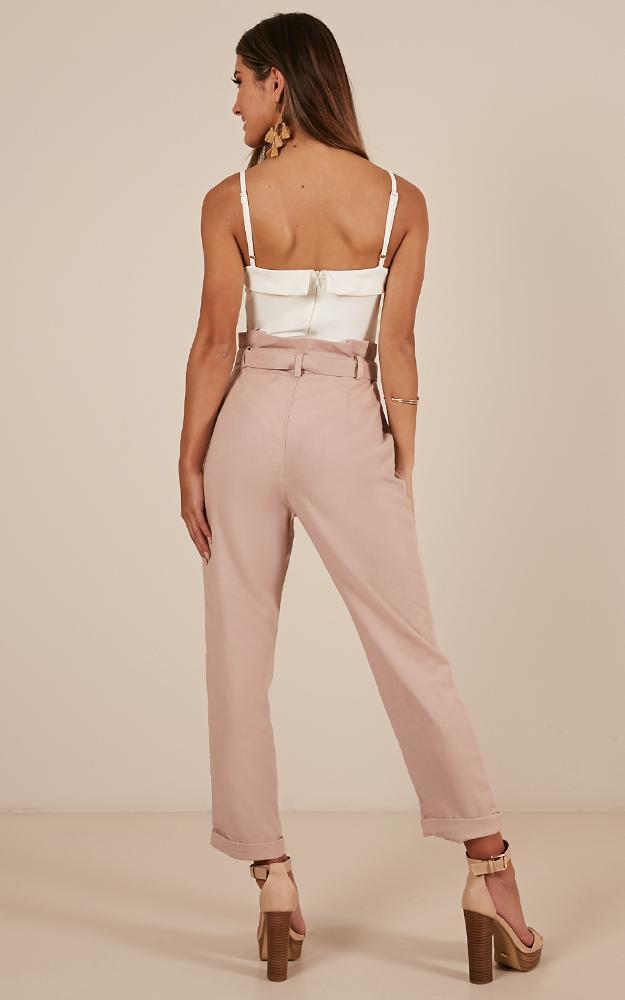 Golden Girl Pants in blush Linen Look - 20 (XXXXL), Blush, hi-res image number null