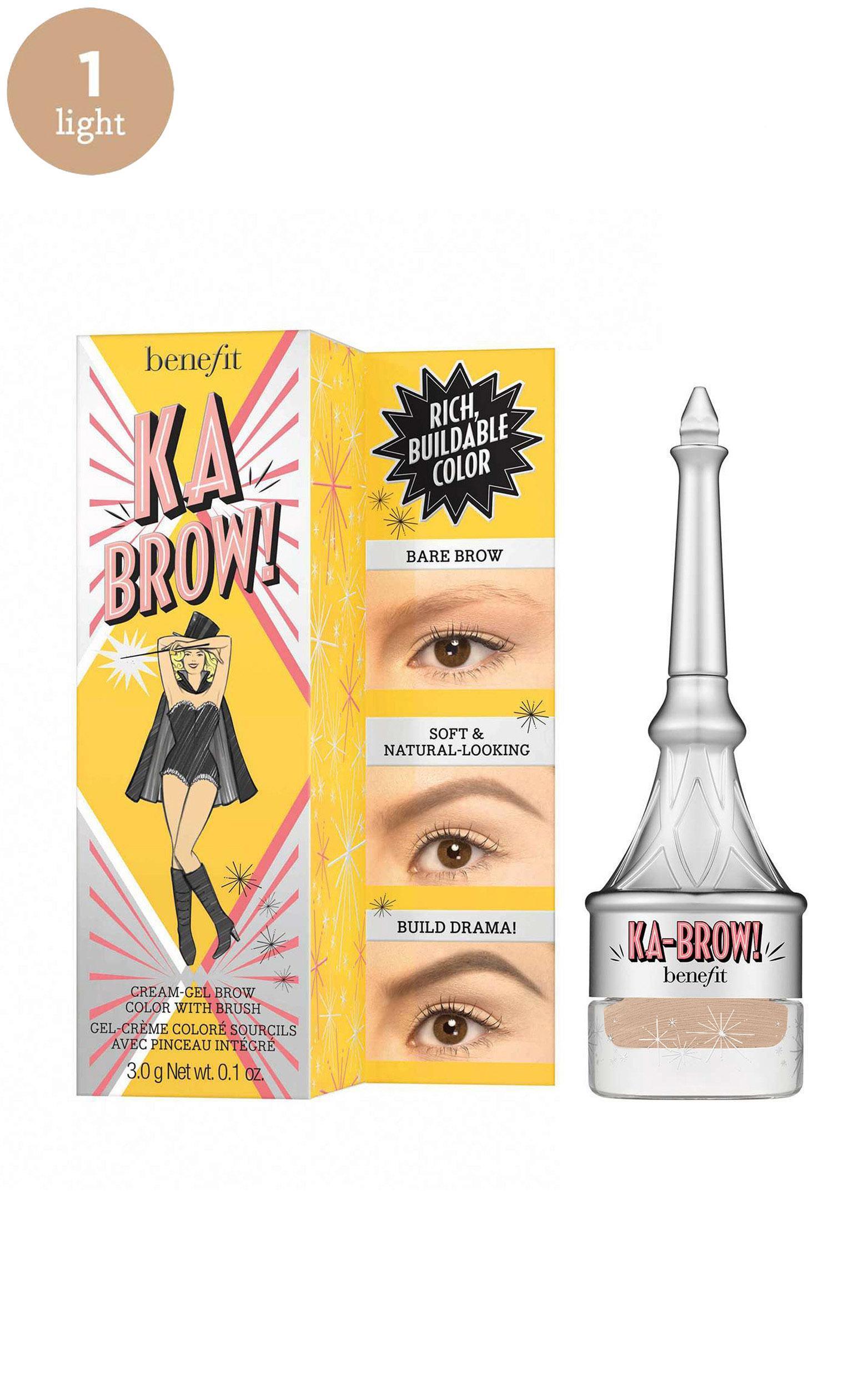 Benefit Cosmetics - Ka-BROW! Eyebrow Cream-Gel Colour in 1 - Cool Light Blonde, Beige, hi-res image number null