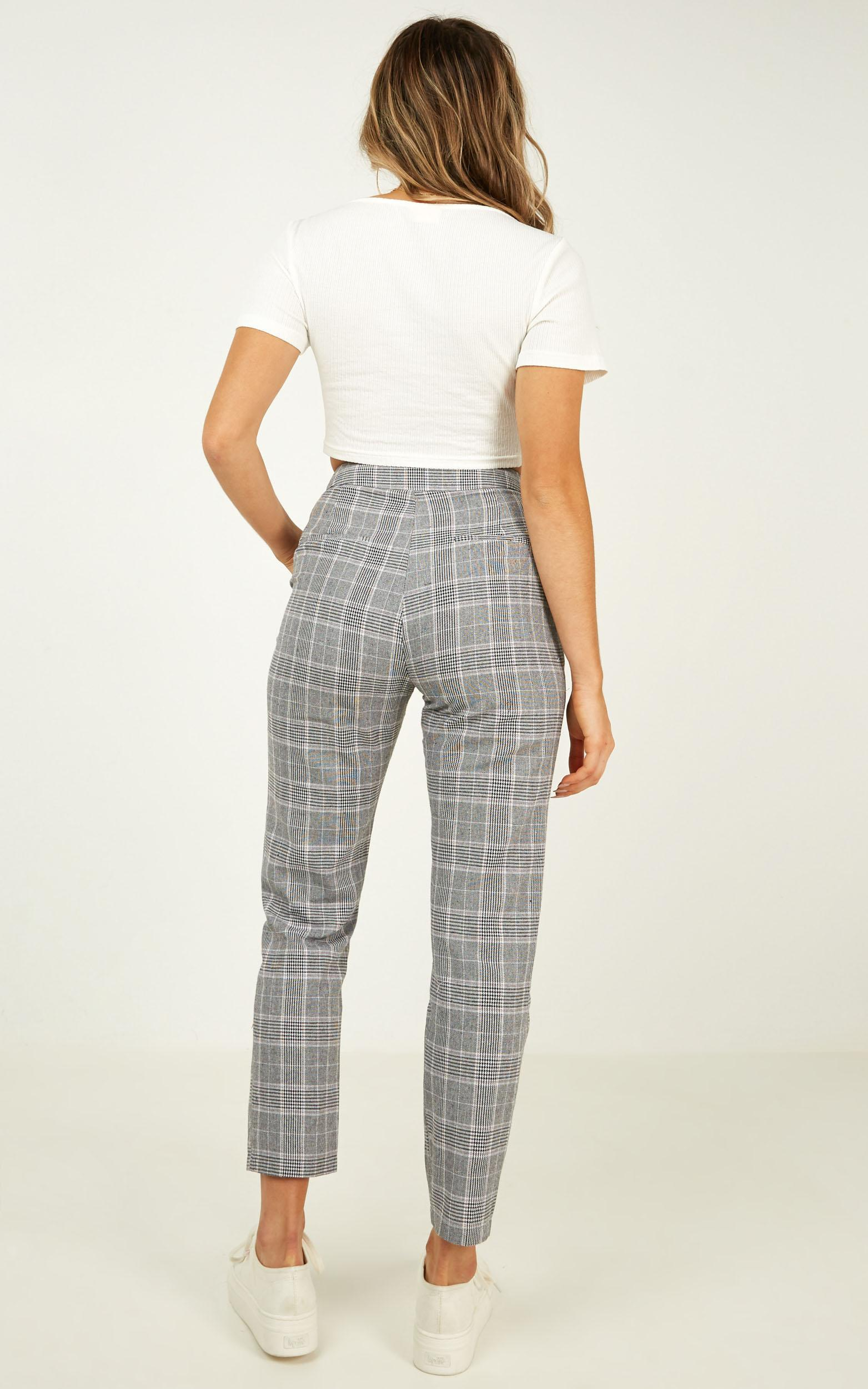 Roll Along Pants in grey check - 20 (XXXXL), Grey, hi-res image number null