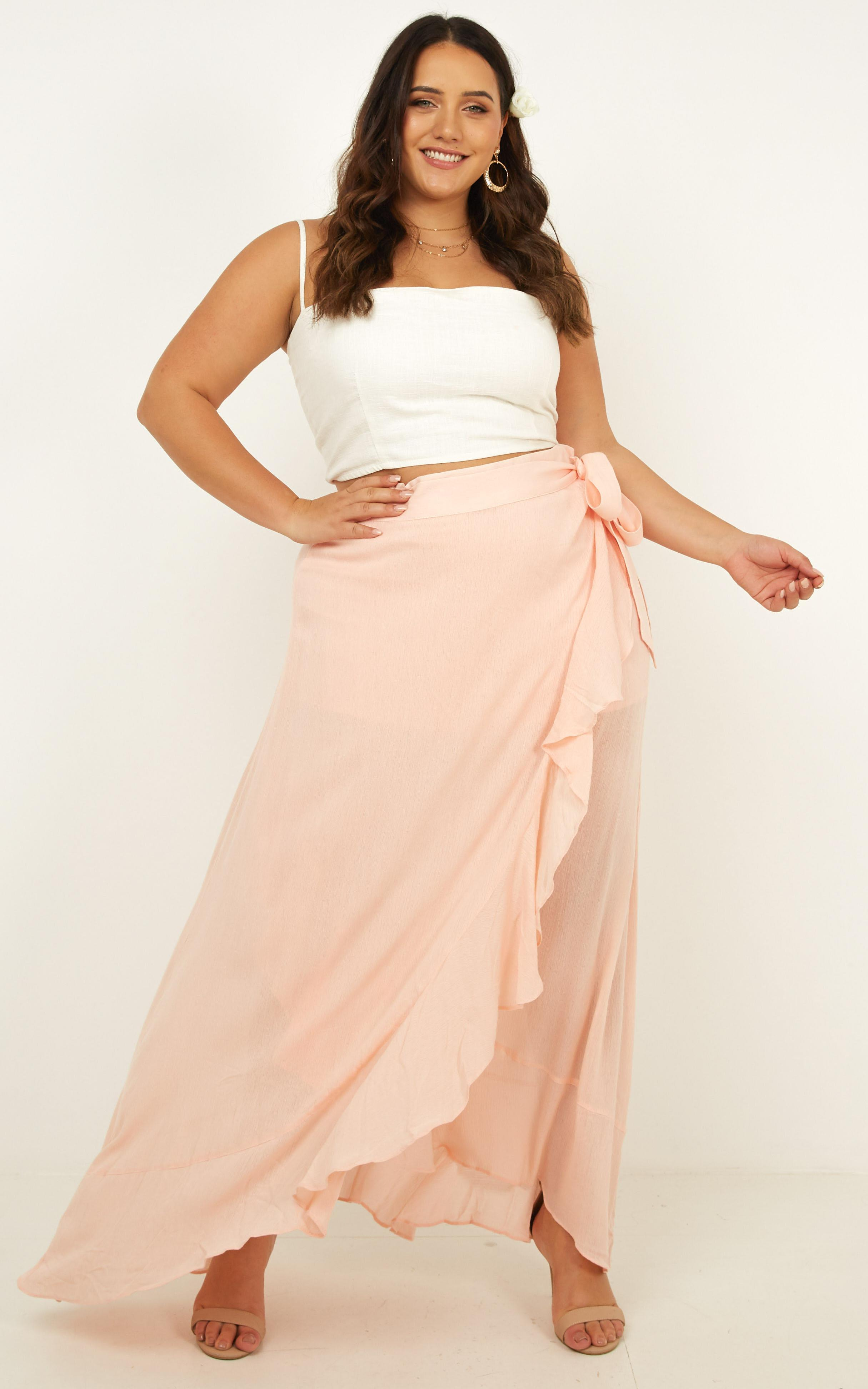 Love Poem Maxi Skirt in blush - 14 (XL), Blush, hi-res image number null