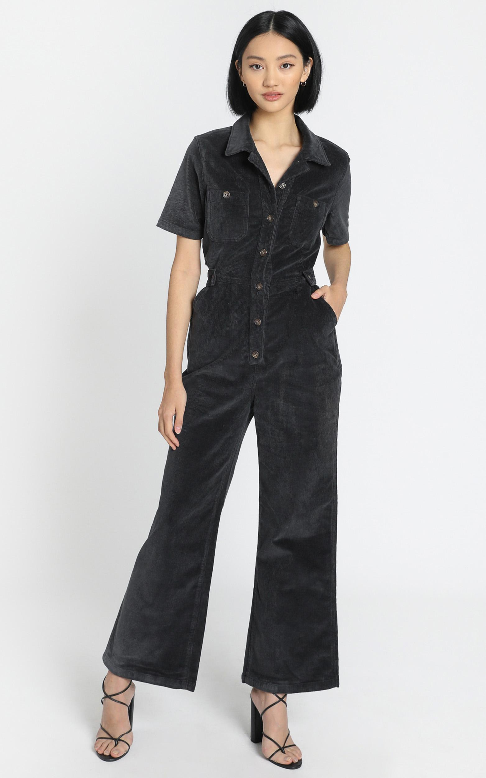 Wrangler - Broadways Jumpsuit in Midnight Black - 6 (XS), Black, hi-res image number null