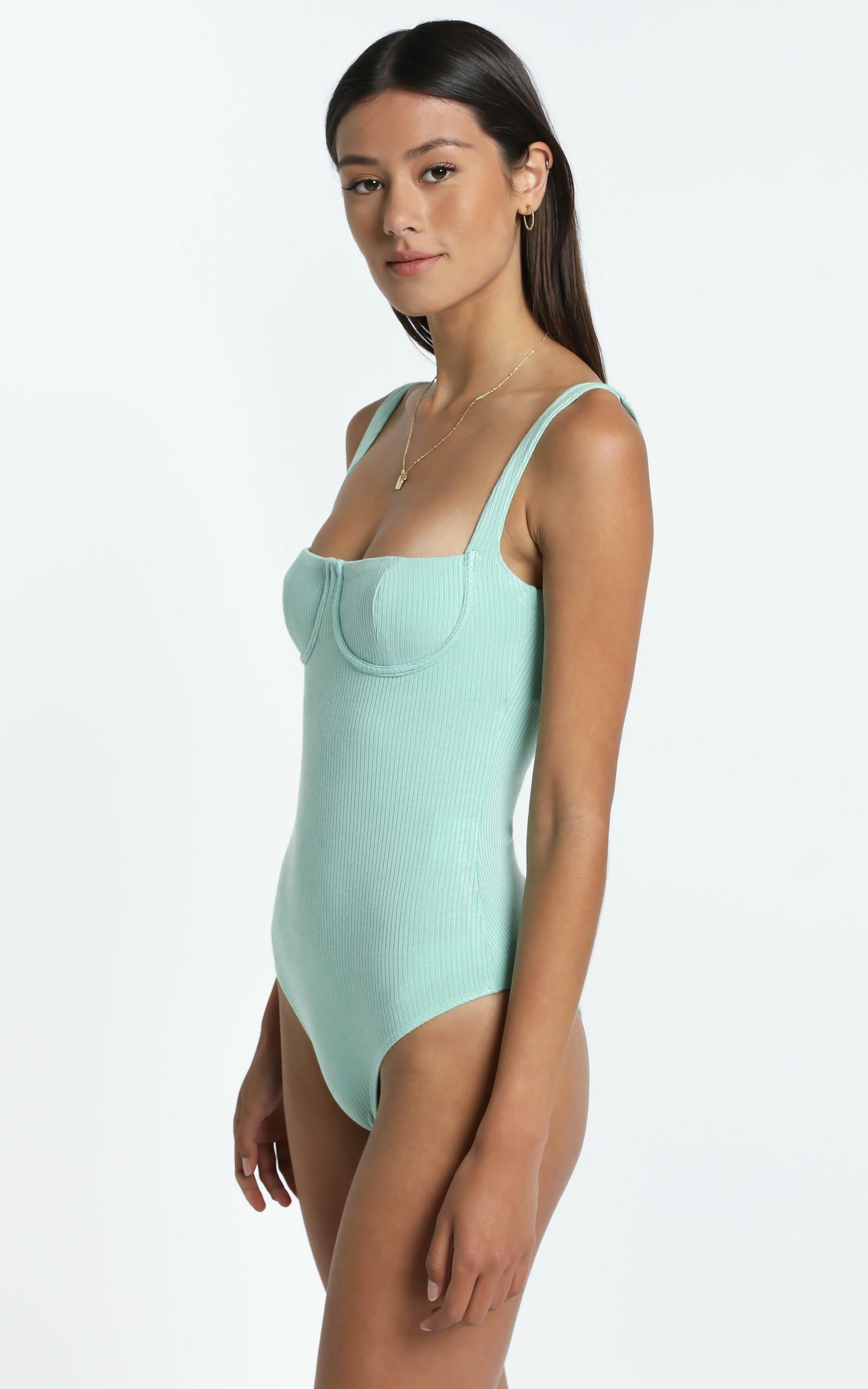 Lotty Bodysuit in Sage - 6 (XS), Sage, hi-res image number null