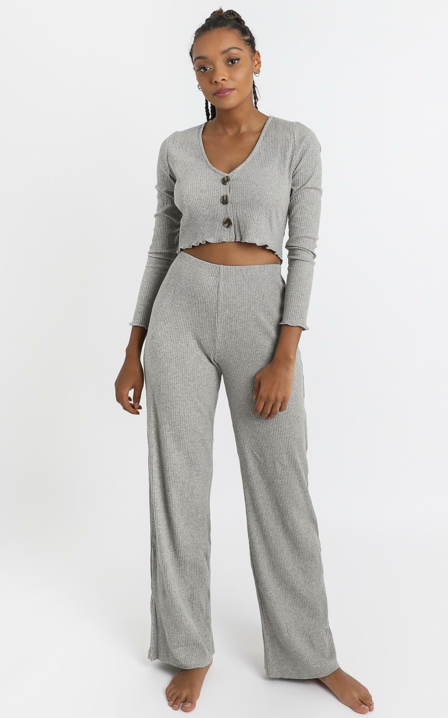 Bellamy Two Piece Set in Grey - 8 (S), Grey, hi-res image number null