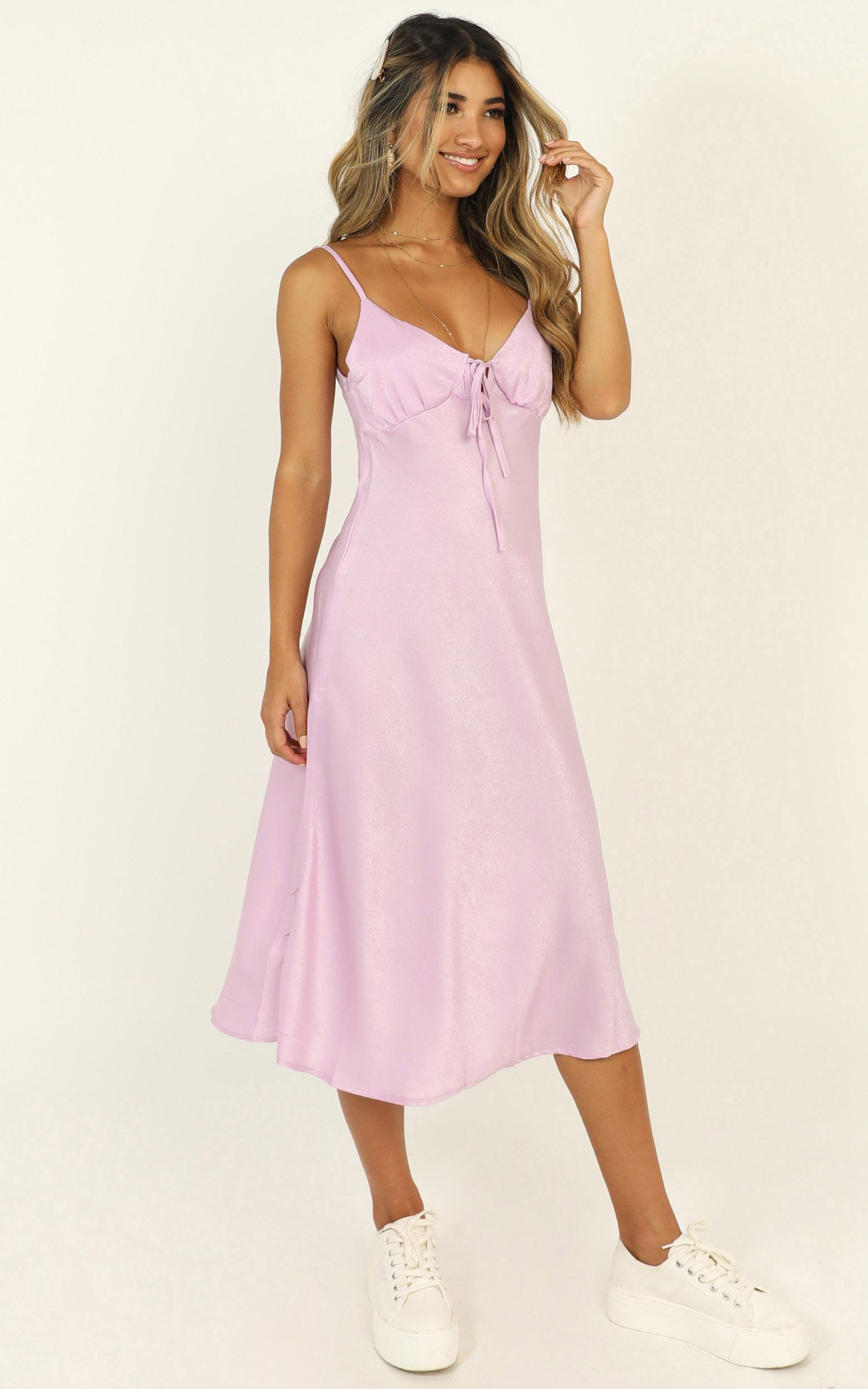 Toss The Dice dress in lilac - 16 (XXL), Purple, hi-res image number null