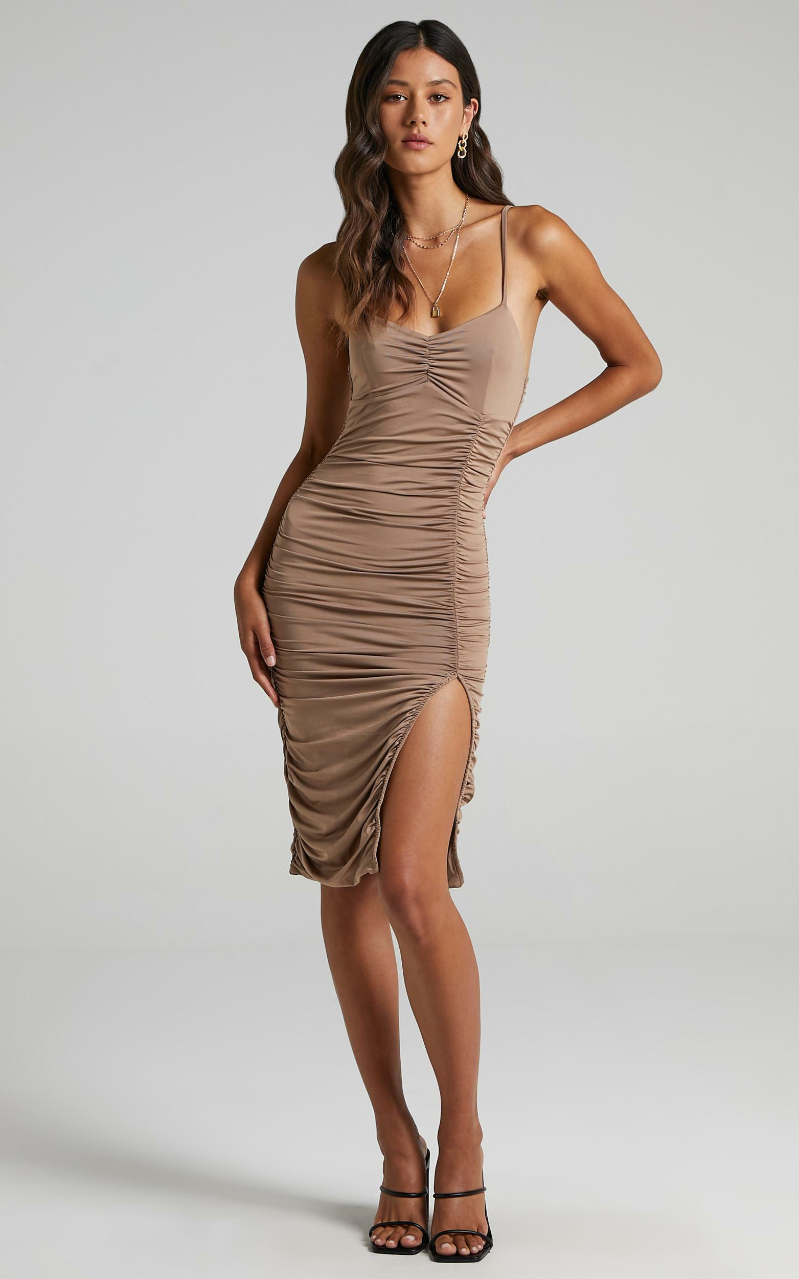 Annette Dress In Mocha - 6 (XS), Brown, hi-res image number null