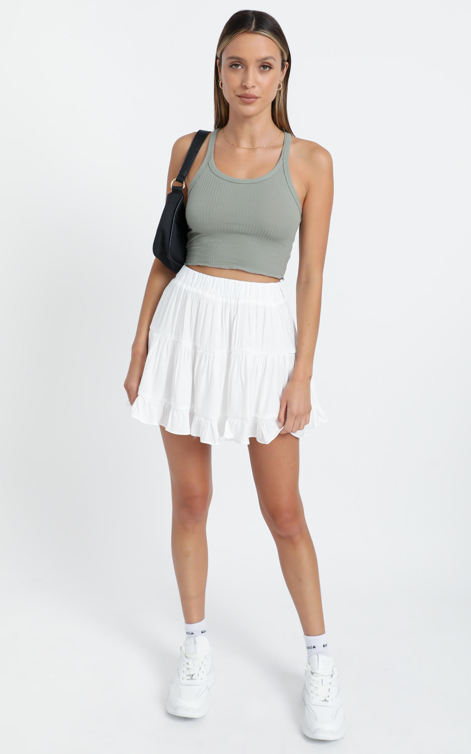 Laurissa Skirt in White - 8 (S), White, hi-res image number null